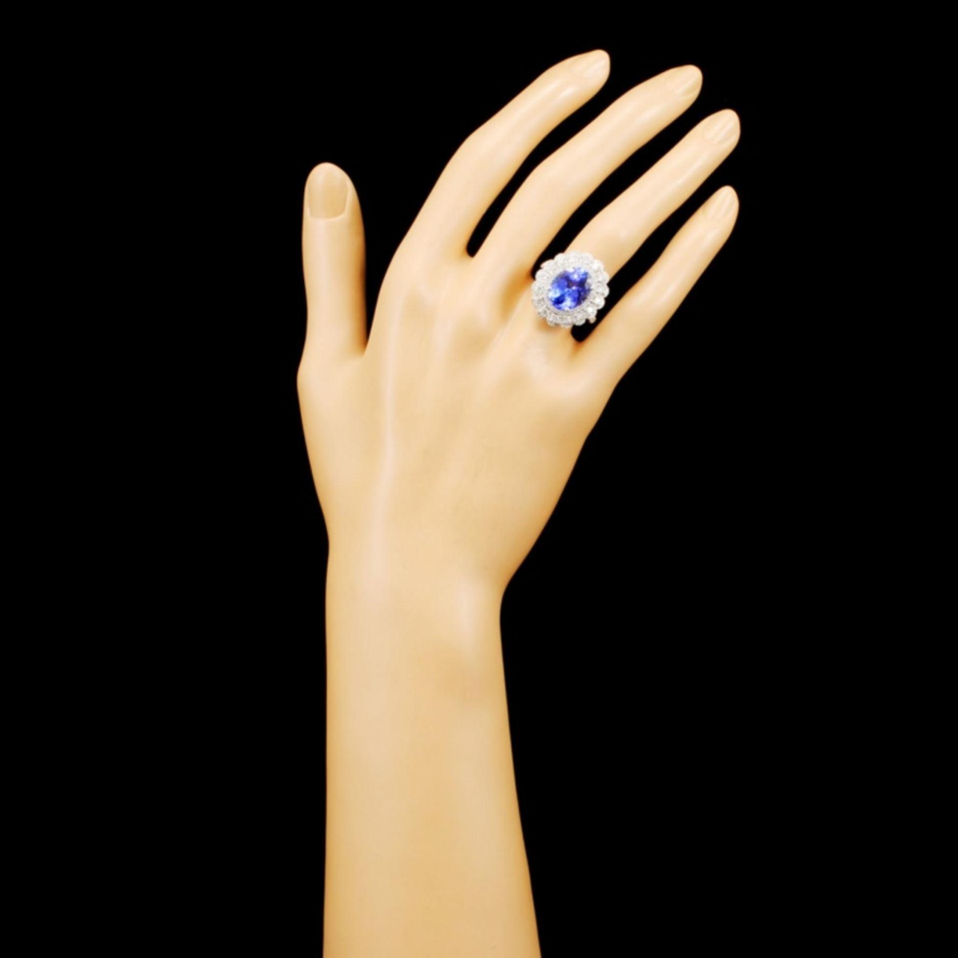 18K Gold 4.92ct Tanzanite & 1.07ctw Diamond Ring - Image 4 of 5