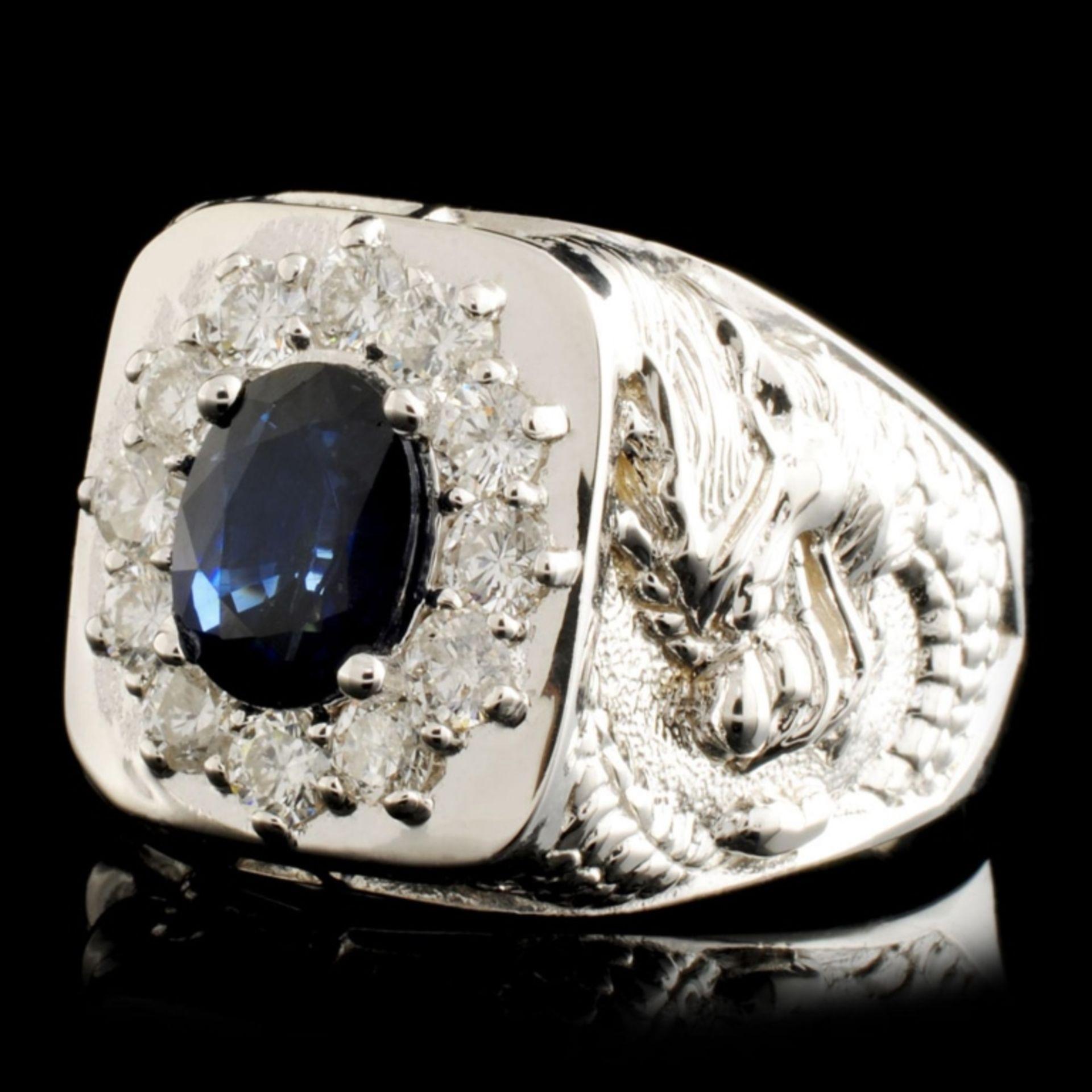 14K Gold 2.00ct Sapphire & 0.90ctw Diamond Ring - Image 2 of 5
