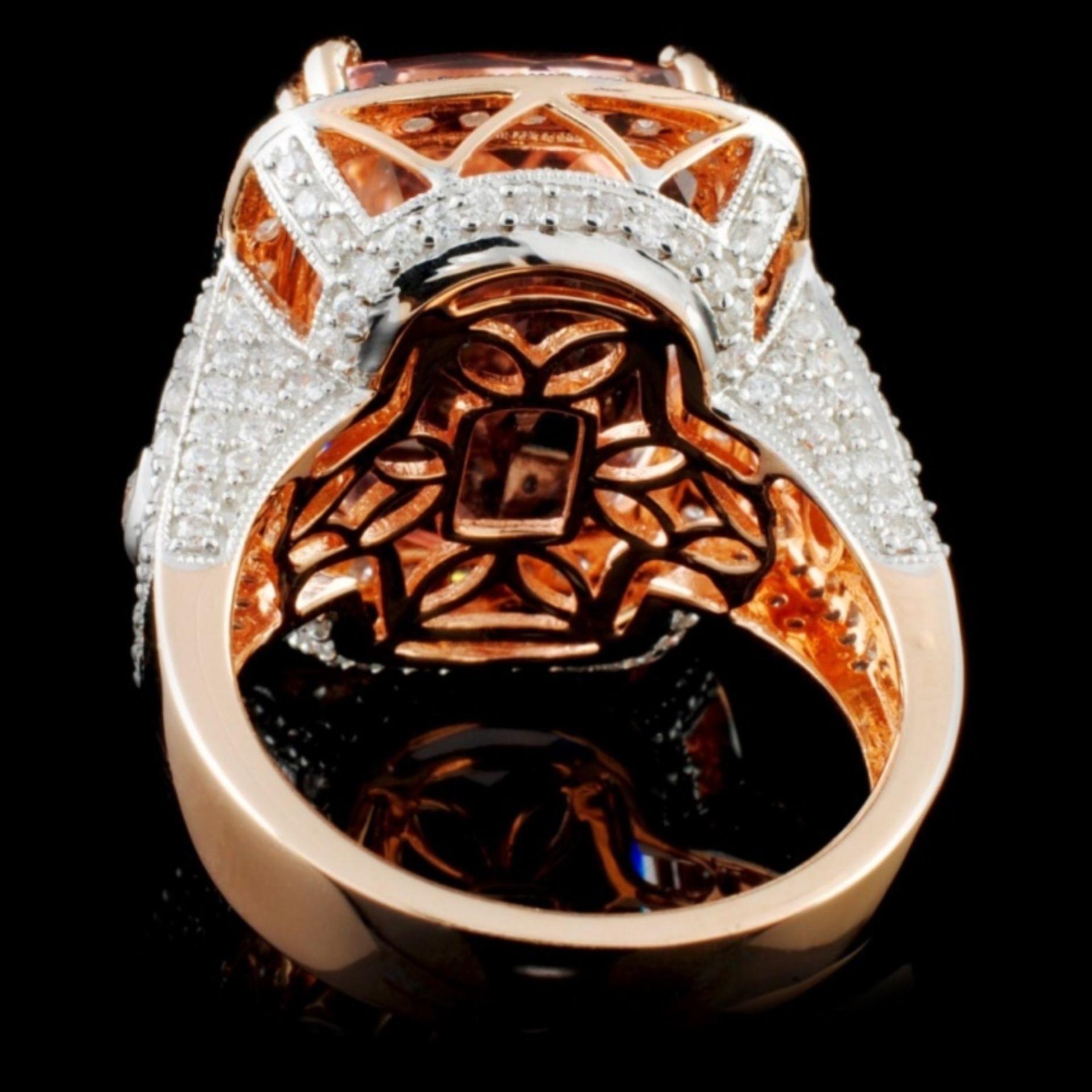 14K Rose Gold 13.88ct Morganite & 1.53ct Diamond R - Image 3 of 4