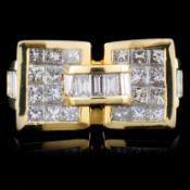 18K Yellow Gold 2.89ctw Diamond Ring