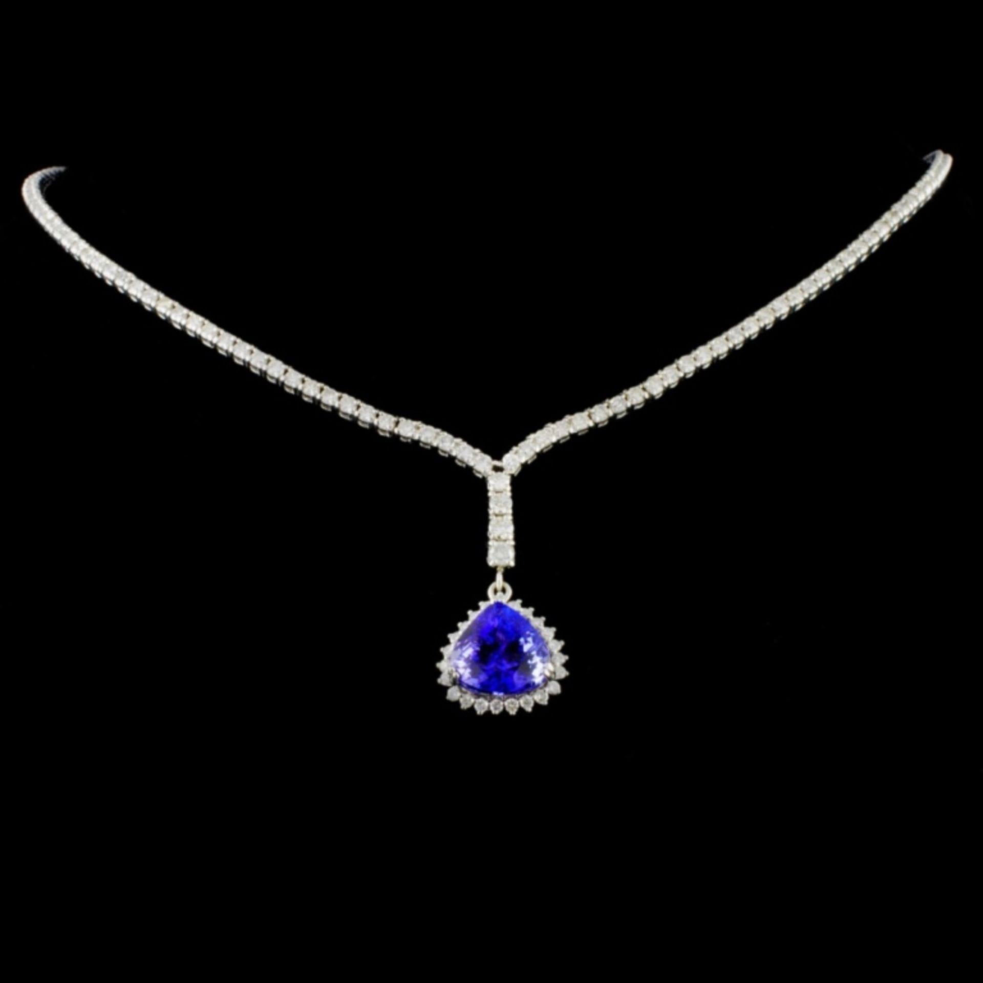 18K White Gold 5.96ct Tanzanite & 3.47ct Diamond N - Image 2 of 3