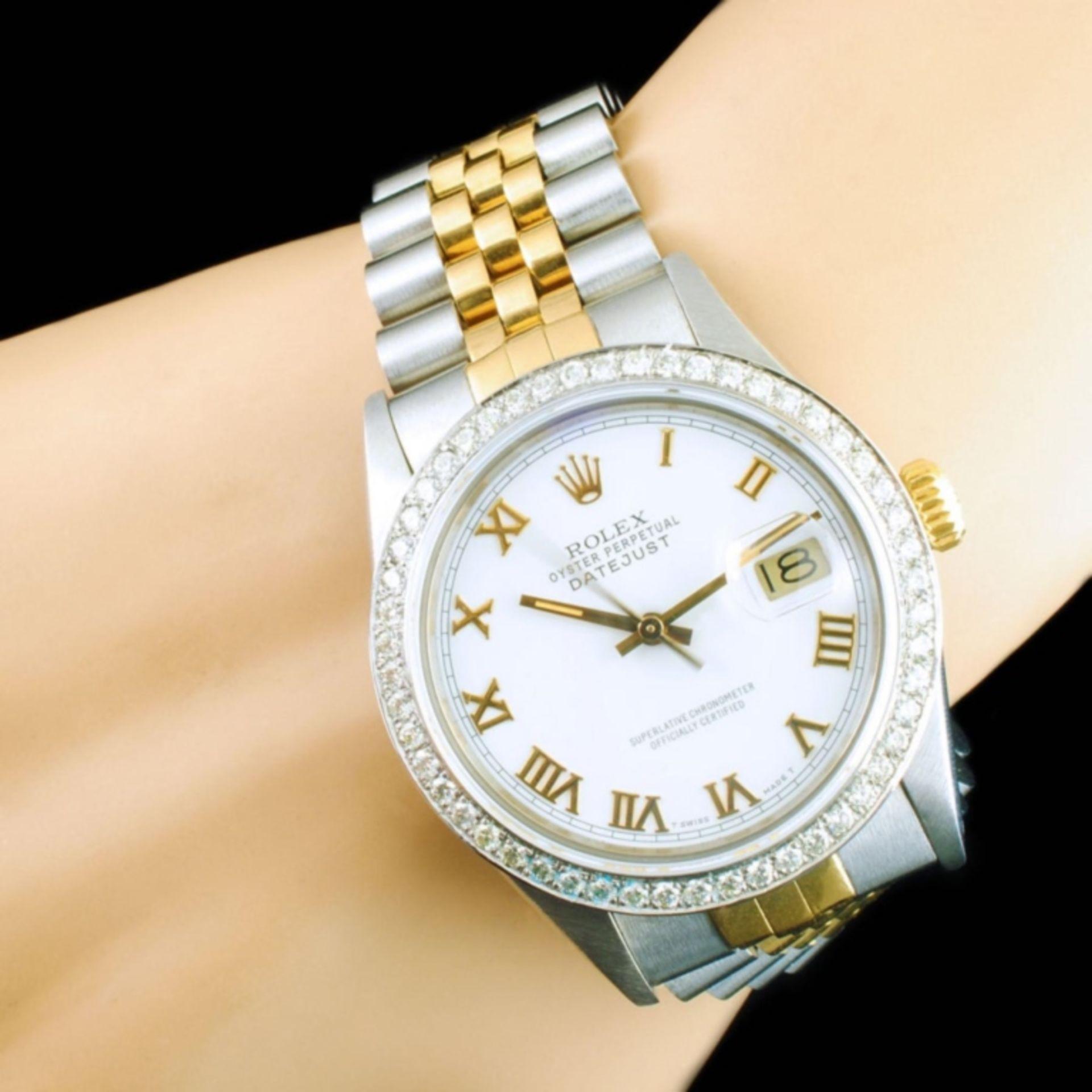 Rolex DateJust YG/SS Diamond 36mm Wristwatch - Image 2 of 6