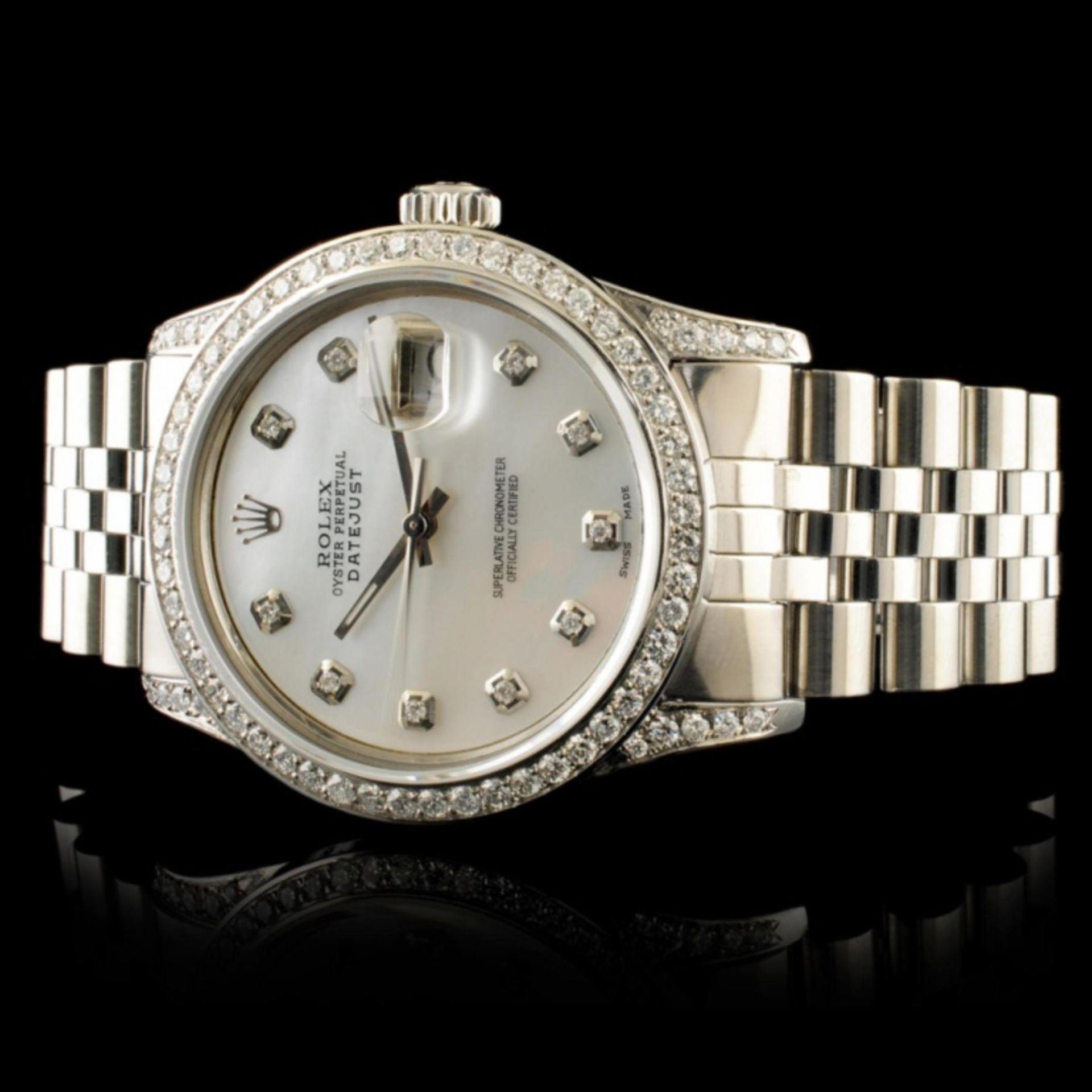 Rolex DateJust 1.50ctw Diamond 36MM Wristwatch - Image 3 of 6
