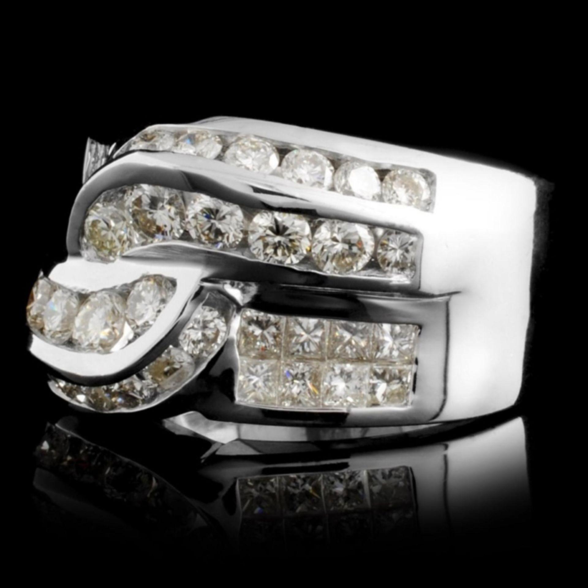 18K White Gold 2.18ctw Diamond Ring - Image 2 of 3