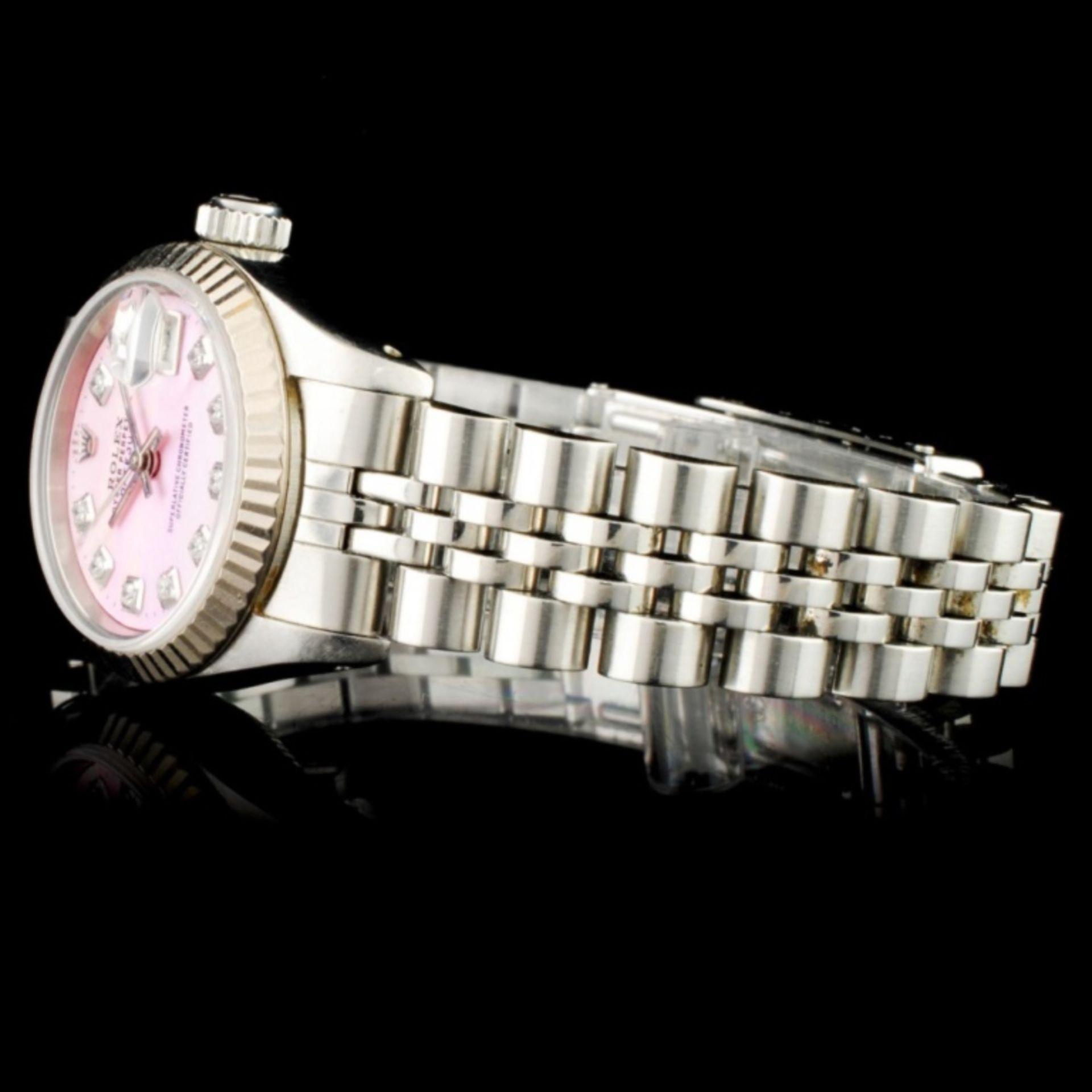 Rolex DateJust 18K & SS Ladies Wristwatch - Image 3 of 6