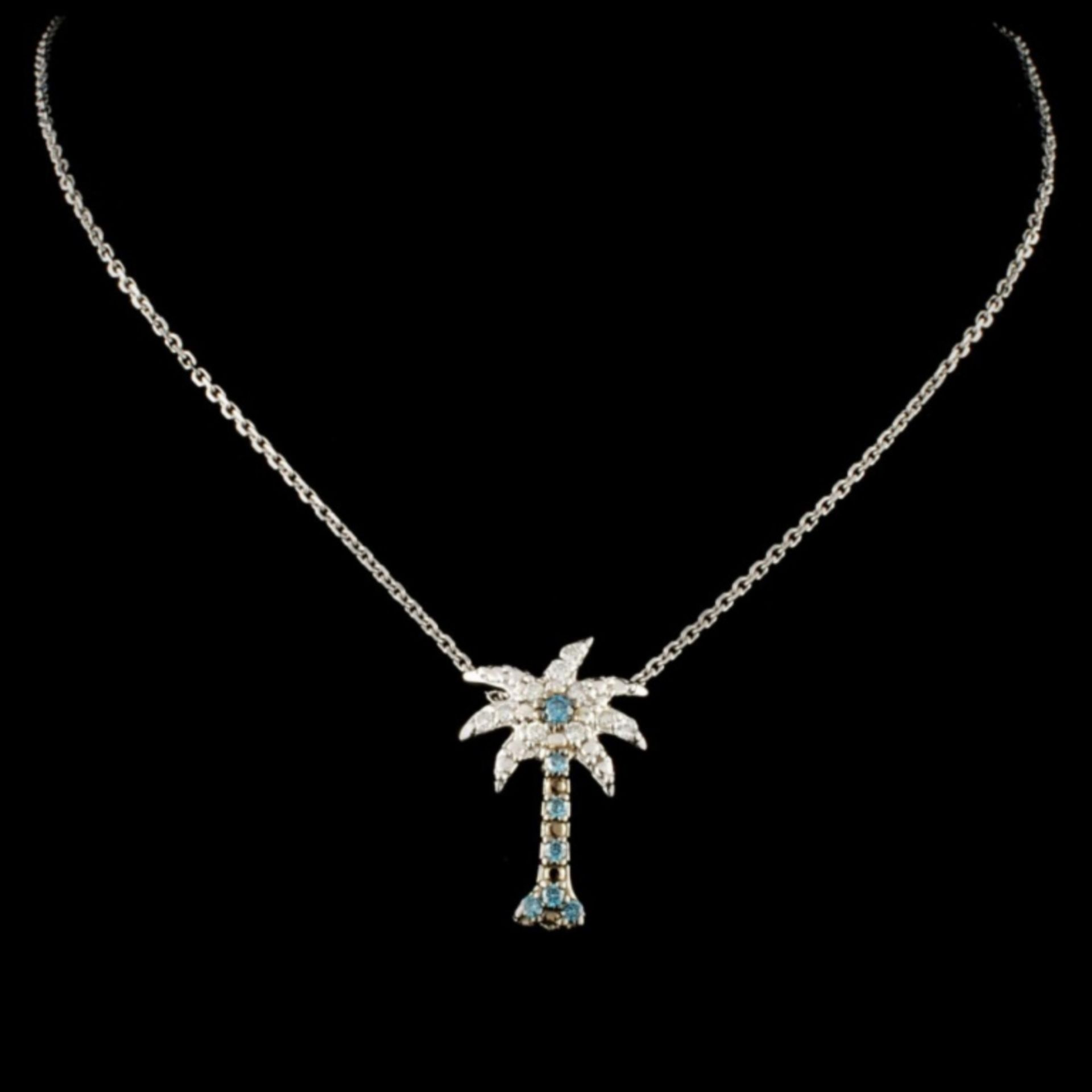 14K Gold 0.25ctw Fancy Color Diamond Pendant - Image 2 of 3