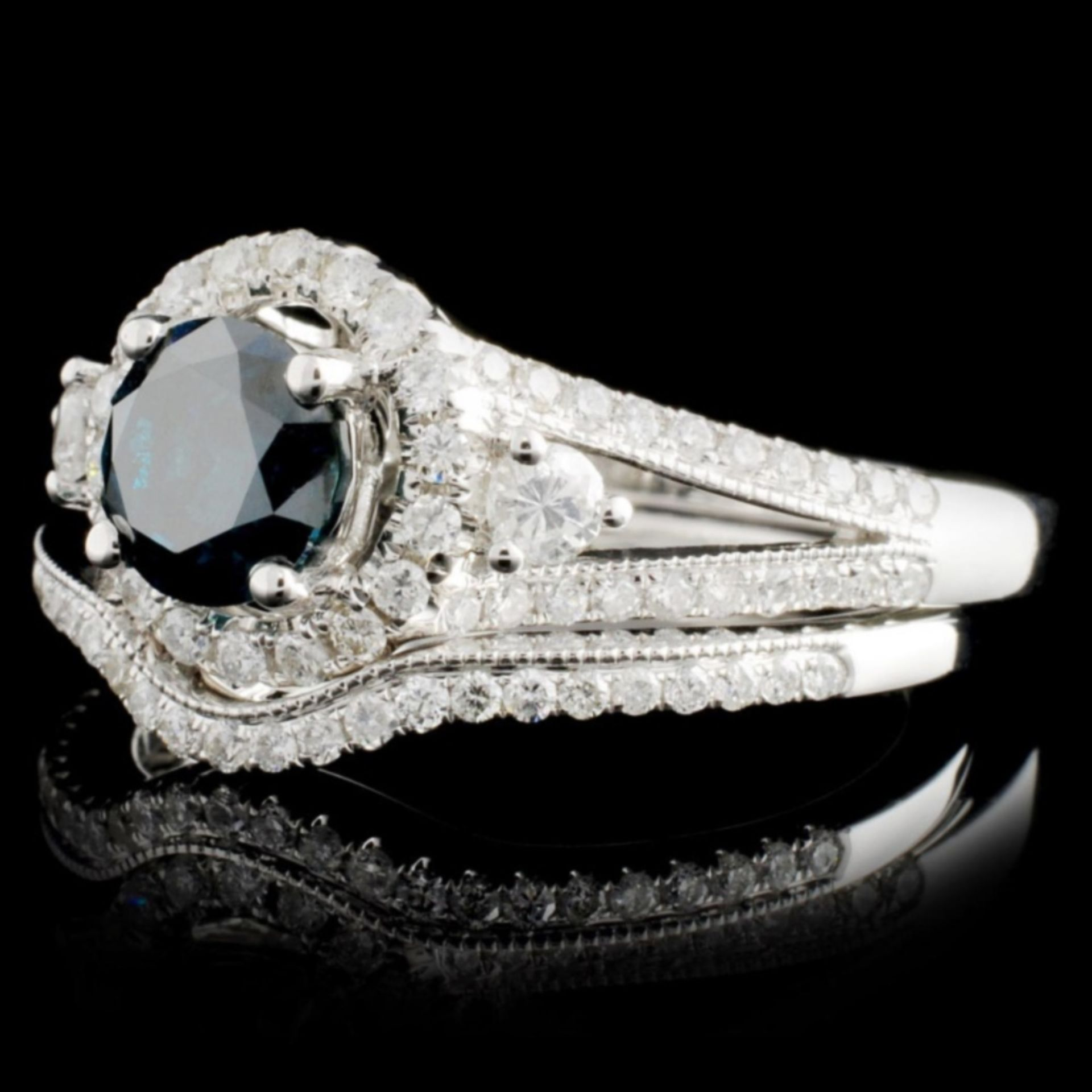 18K Gold 1.47ctw Fancy Color Diamond Ring - Image 2 of 5