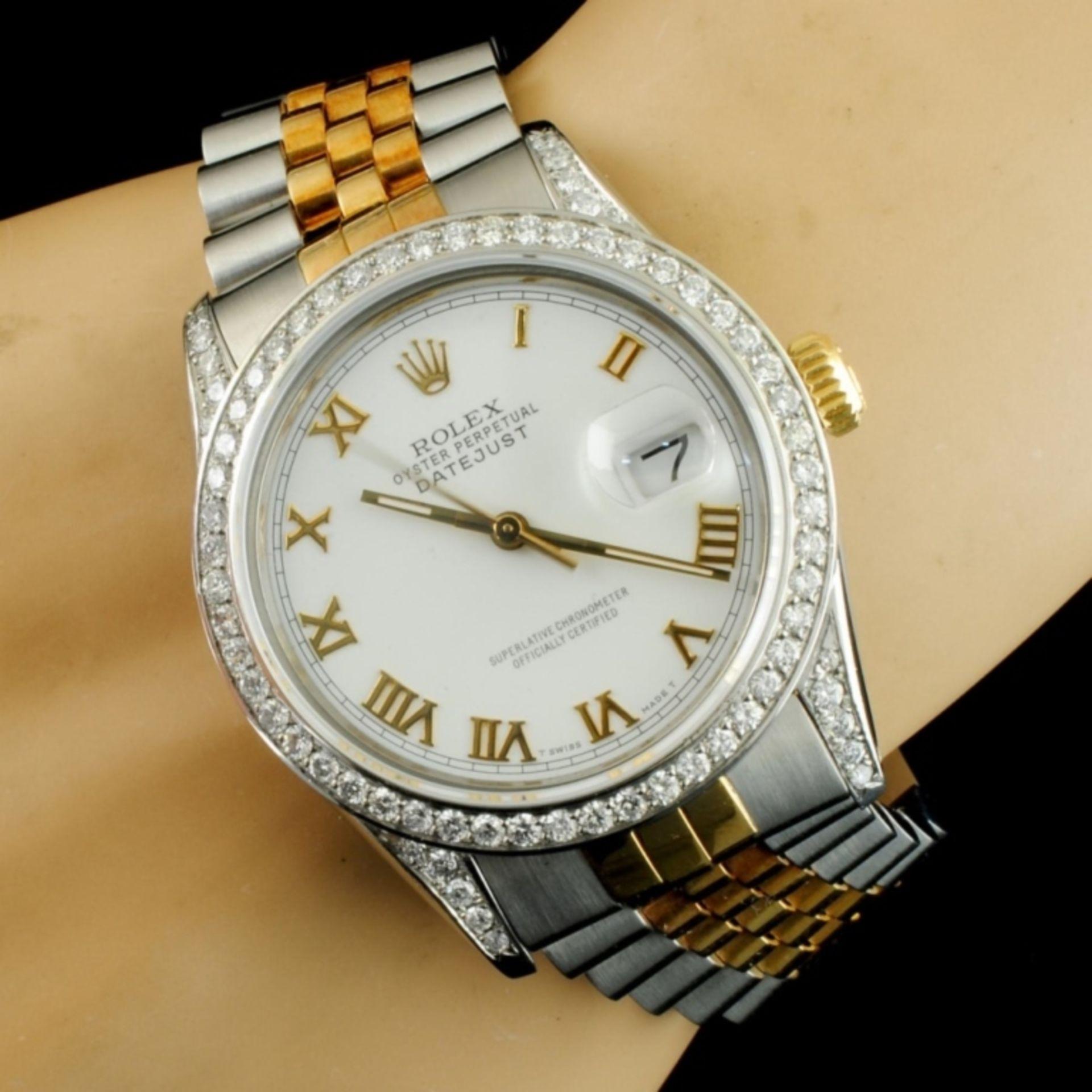 Rolex DateJust 1.50ctw Diamond 36MM Wristwatch - Image 4 of 5
