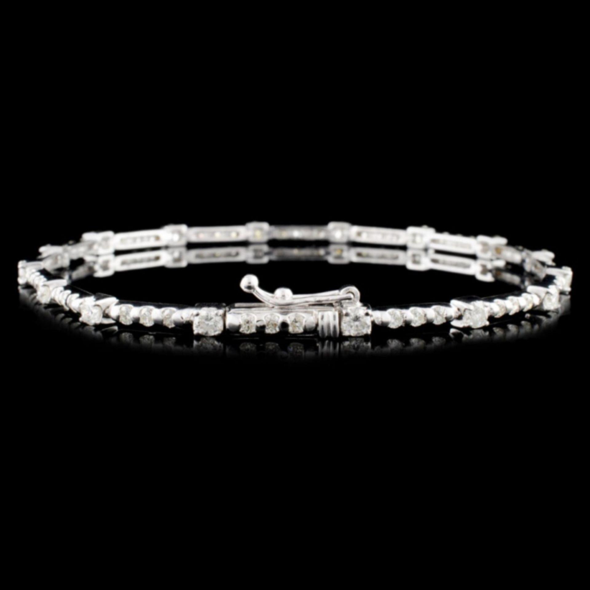 18K Gold 2.00ctw Diamond Bracelet - Image 2 of 3