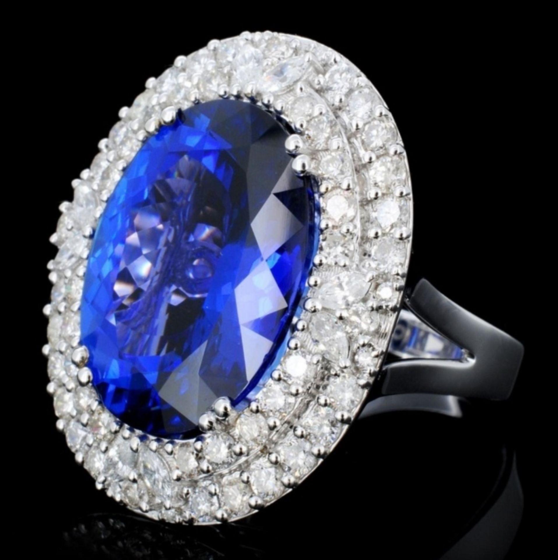 18K Gold 16.55ct Tanzanite & 2.05ct Diamond Ring - Image 3 of 4