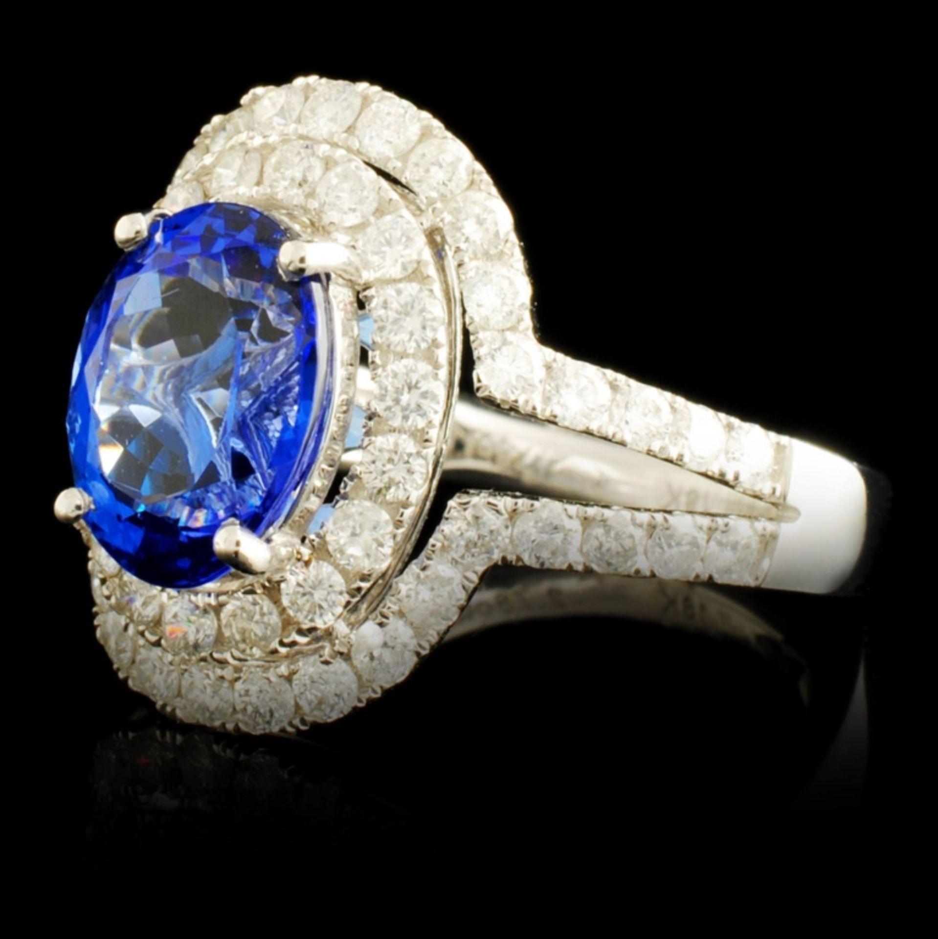 18K Gold 2.78ct Tanzanite & 1.05ctw Diamond Ring - Image 2 of 5