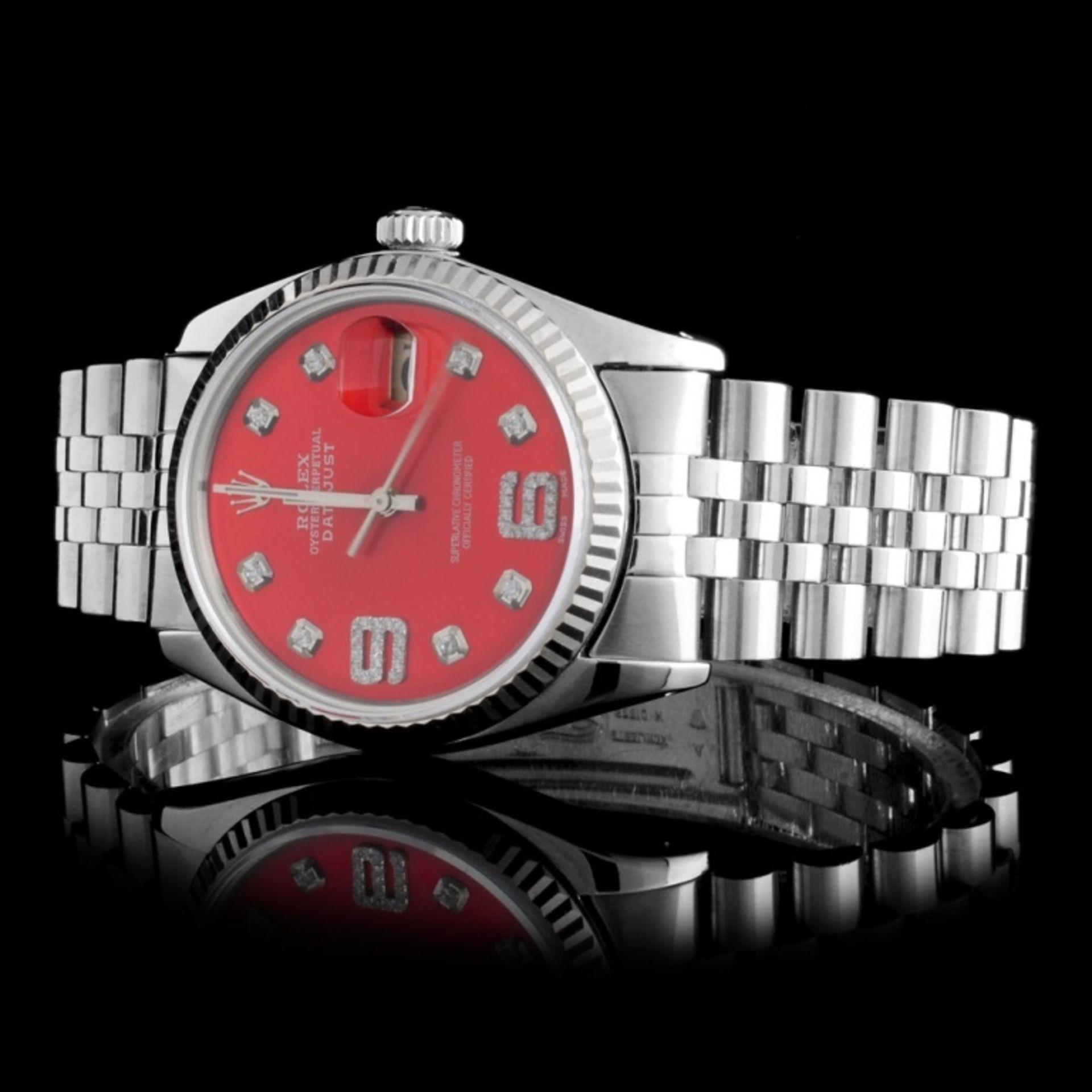 Rolex SS DateJust Diamond 36MM Wristwatch - Image 2 of 5