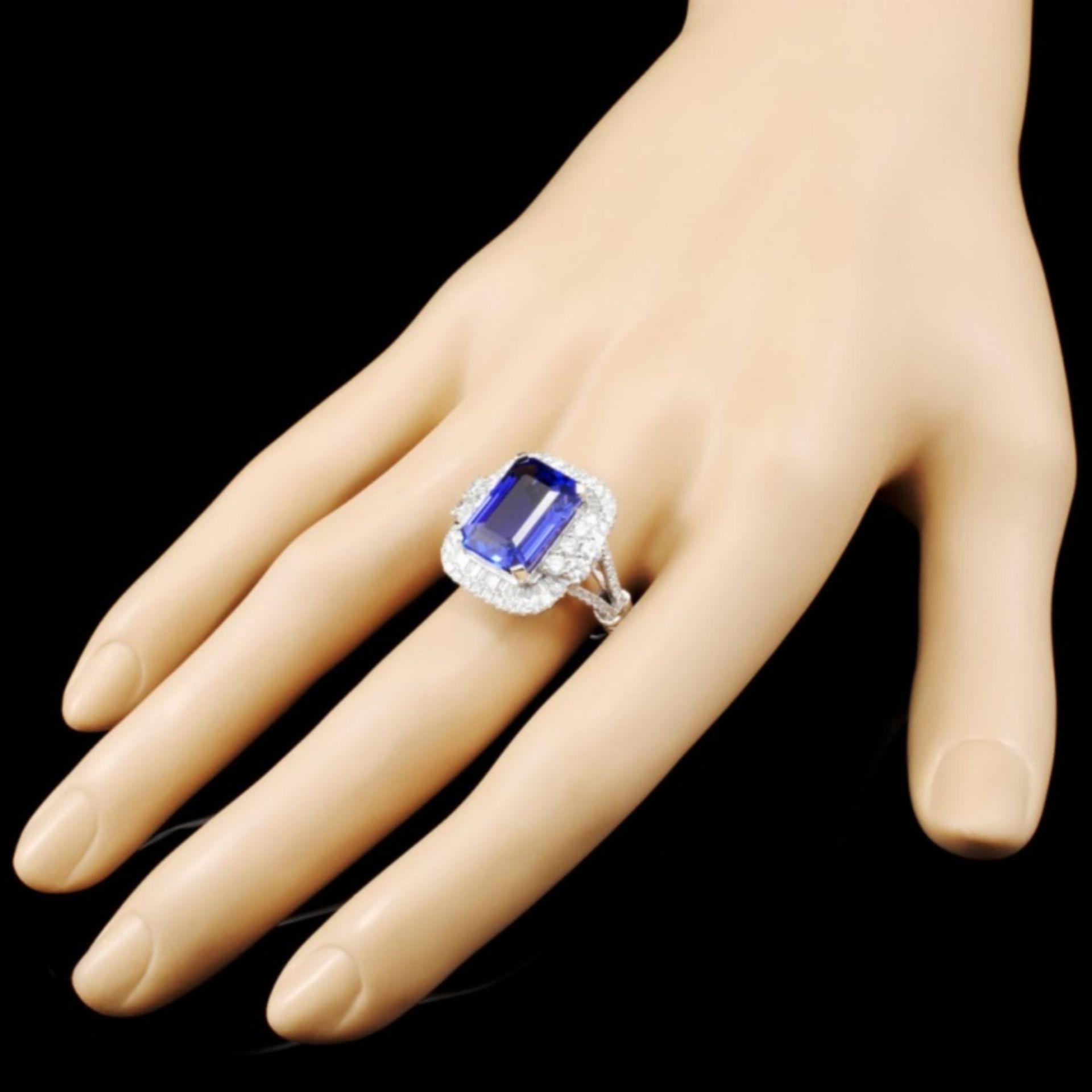 18K Gold 8.12ct Tanzanite & 1.58ctw Diamond Ring - Image 3 of 5