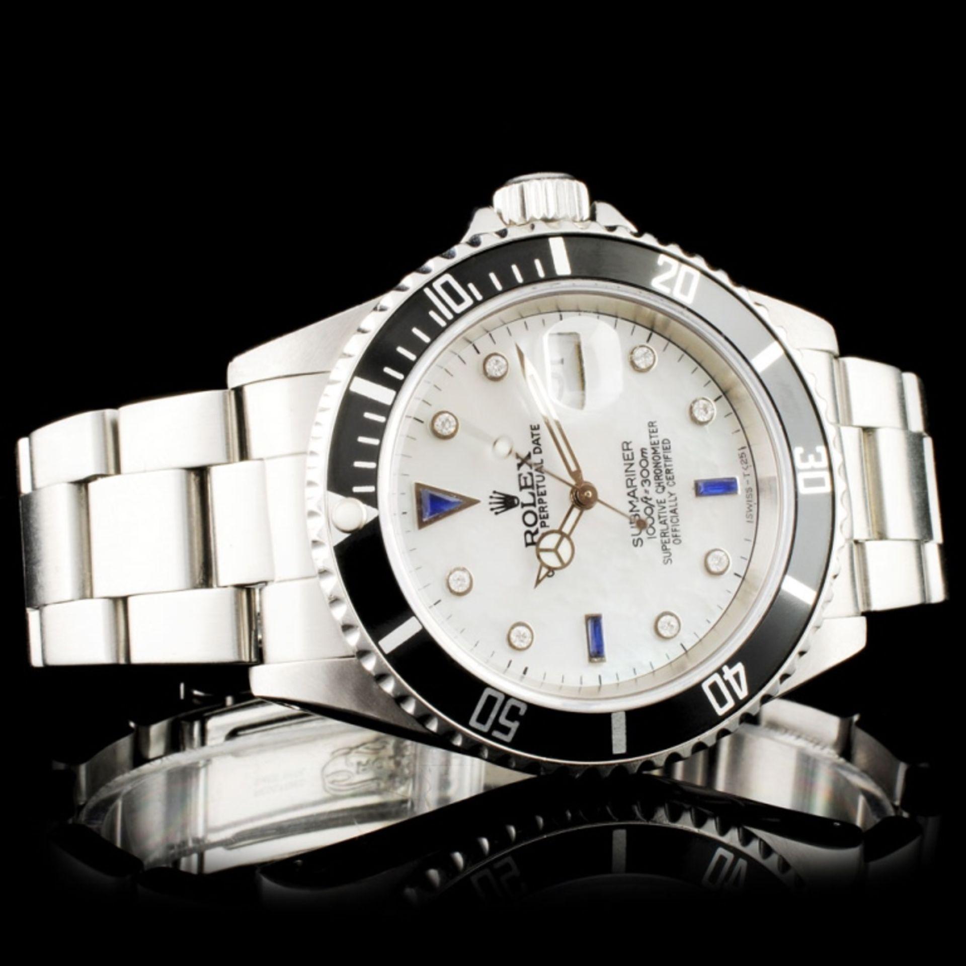 Rolex Submariner SS 40MM Diamond Wristwatch - Image 3 of 7
