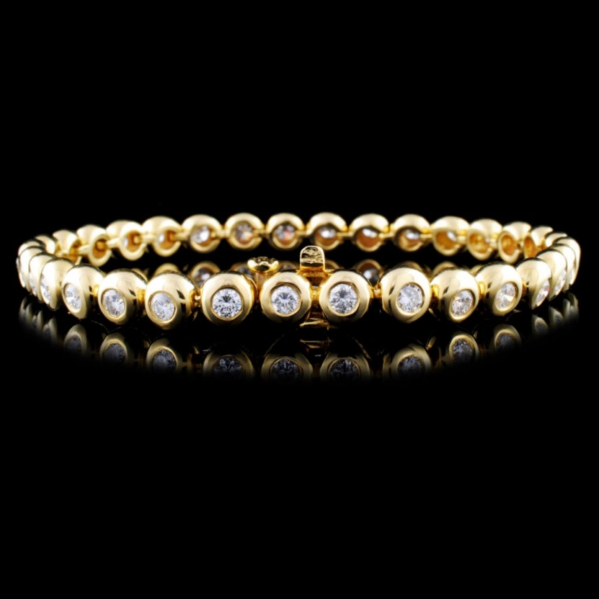18K Gold 2.67ctw Diamond Bracelet - Image 2 of 2