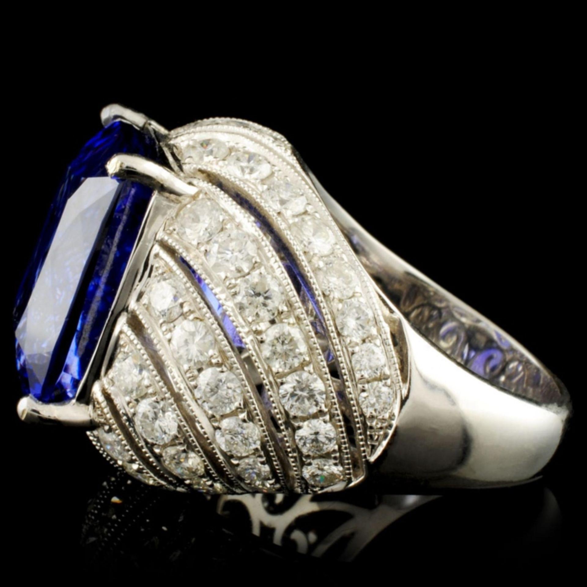 18K Gold 16.72ct Tanzanite & 2.78ctw Diamond Ring - Image 4 of 6