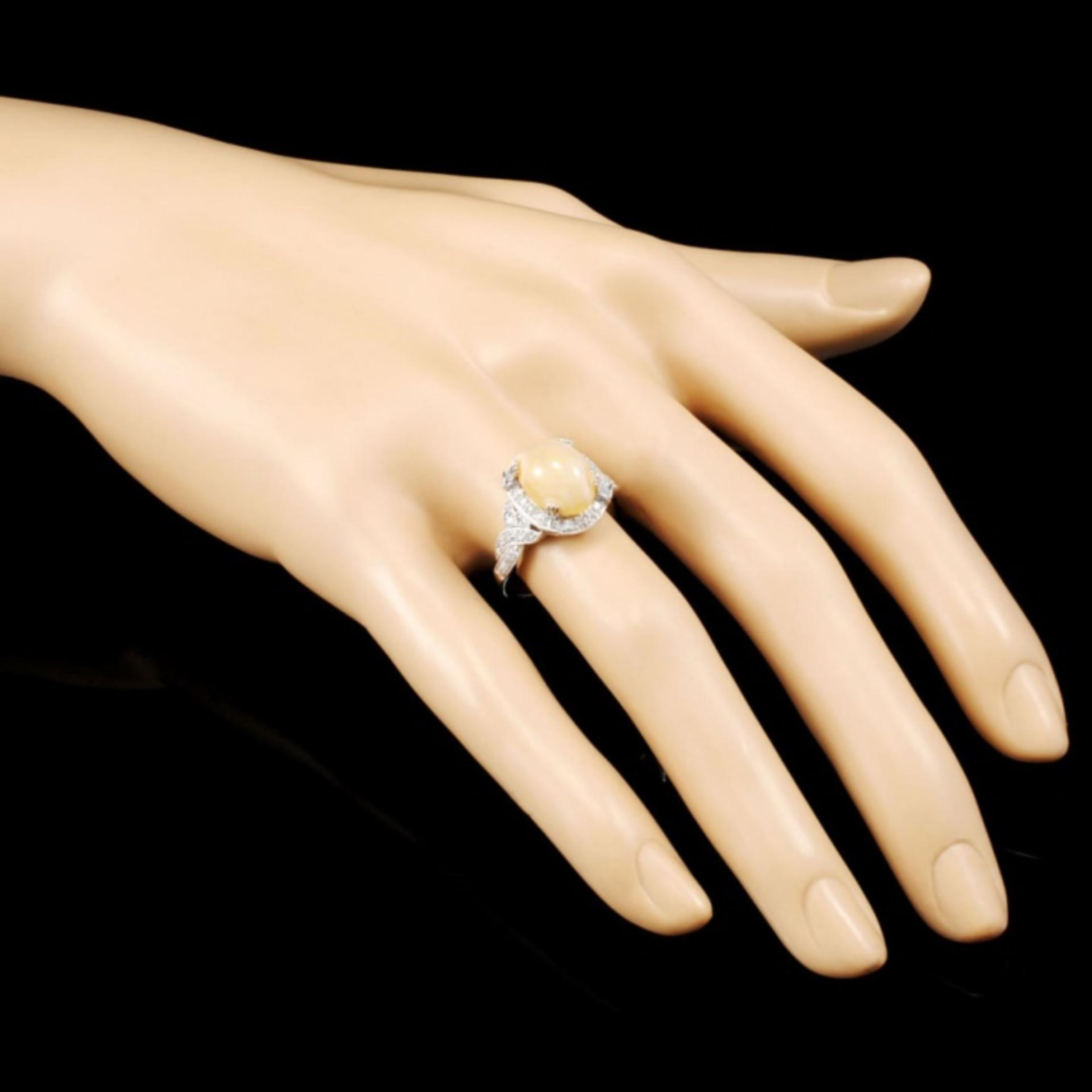 18K Gold 2.14ct Opal & 0.48ctw Diamond Ring - Image 3 of 5