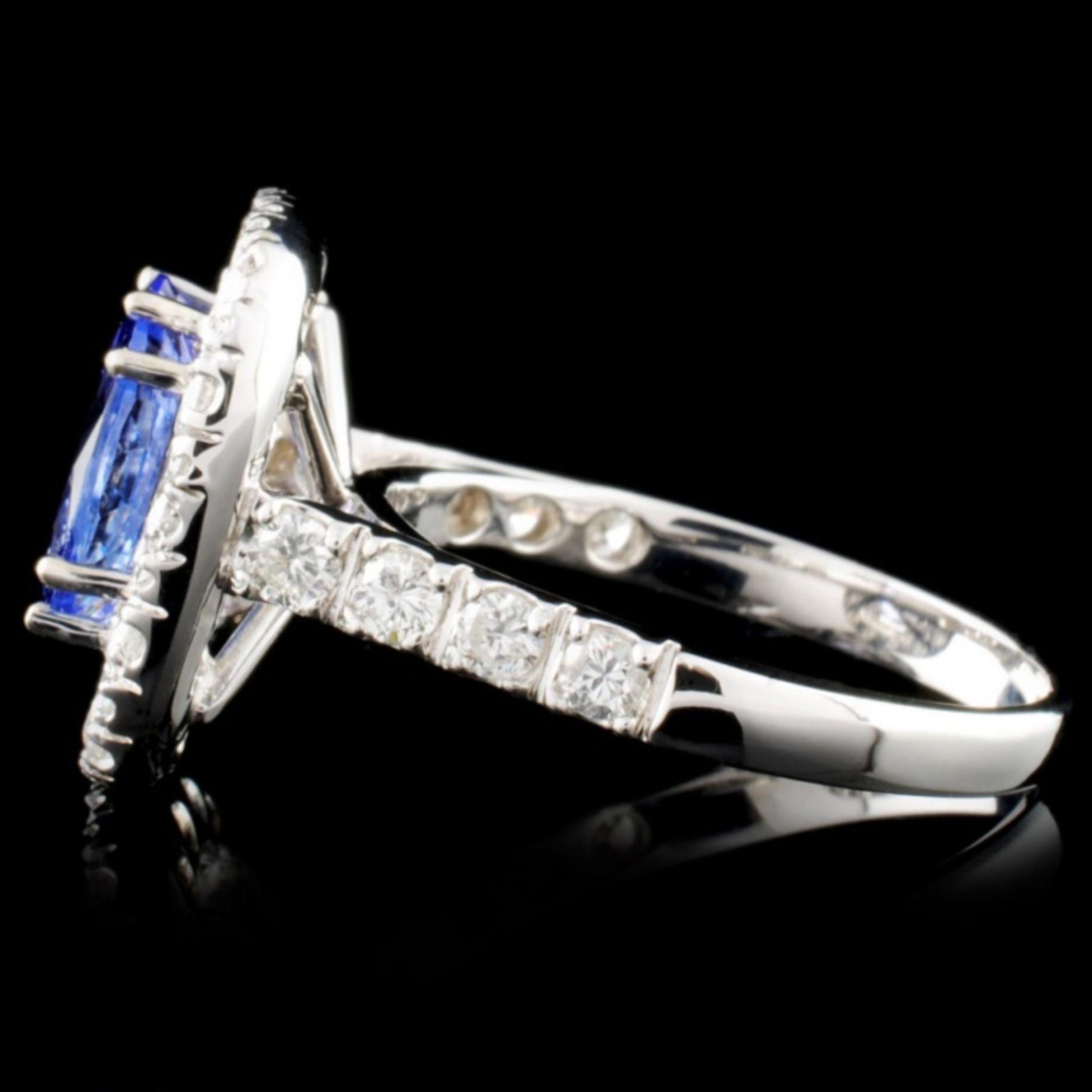 14K Gold 2.16ct Tanzanite & 1.71ctw Diamond Ring - Image 3 of 4