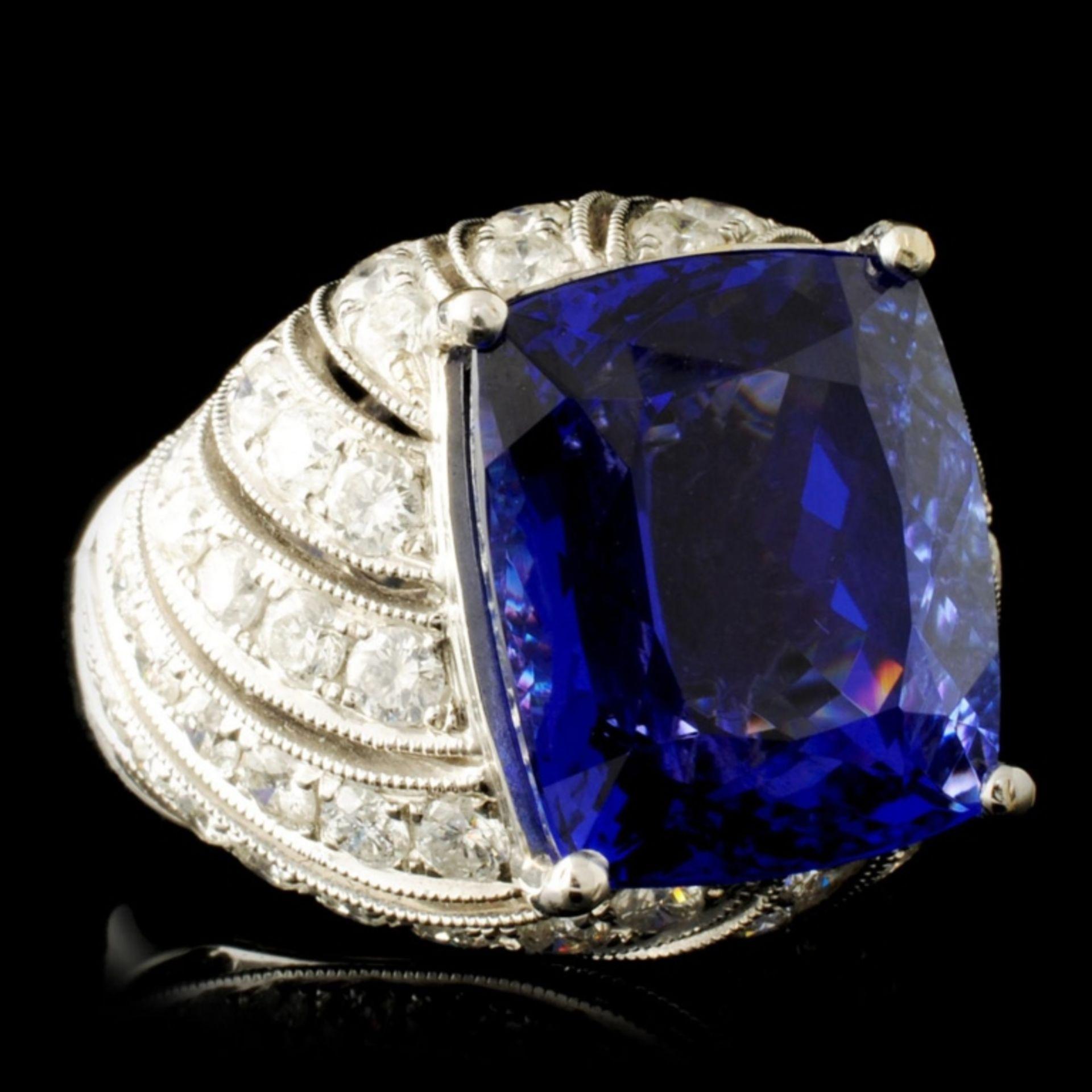 18K Gold 16.72ct Tanzanite & 2.78ctw Diamond Ring - Image 3 of 6