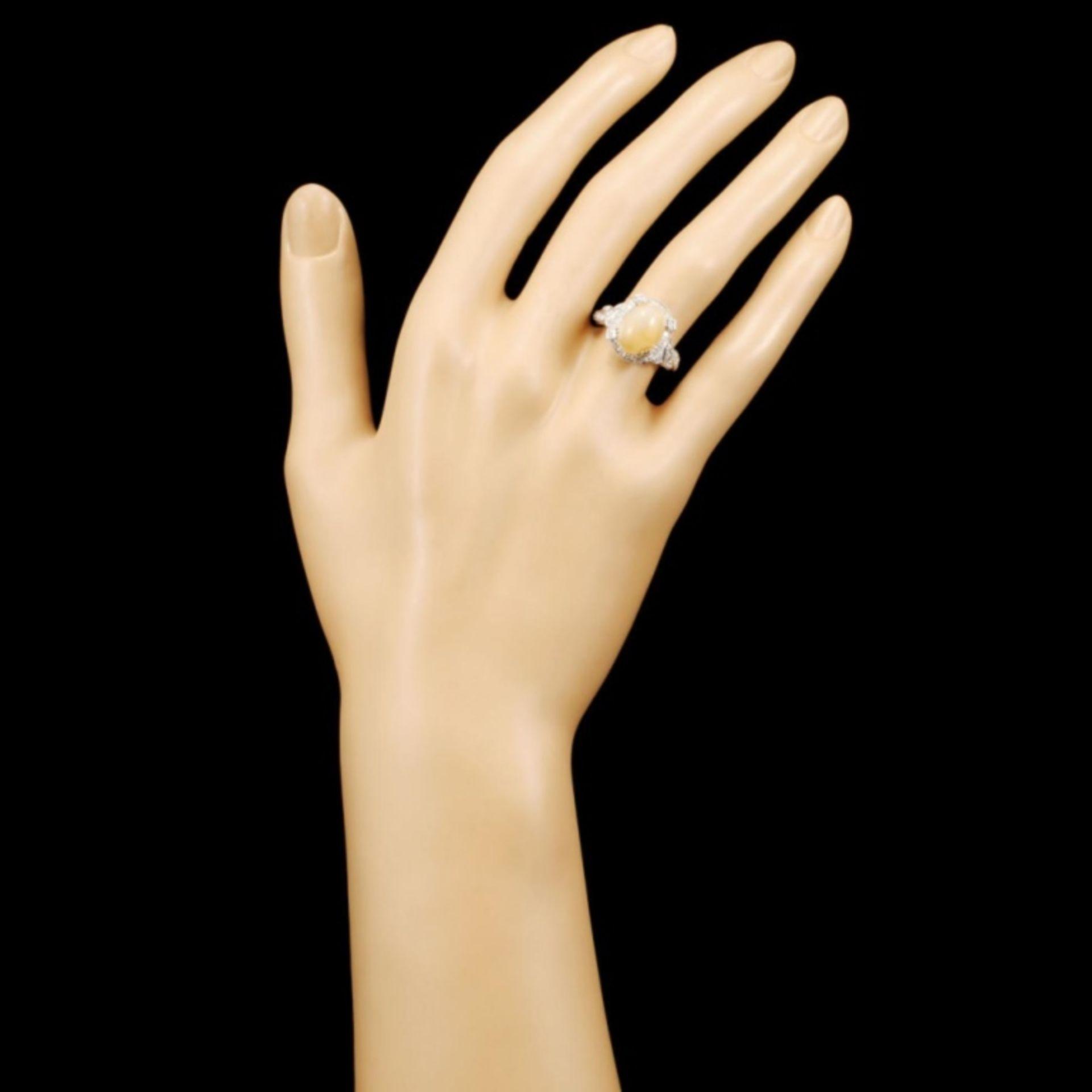 18K Gold 2.14ct Opal & 0.48ctw Diamond Ring - Image 4 of 5