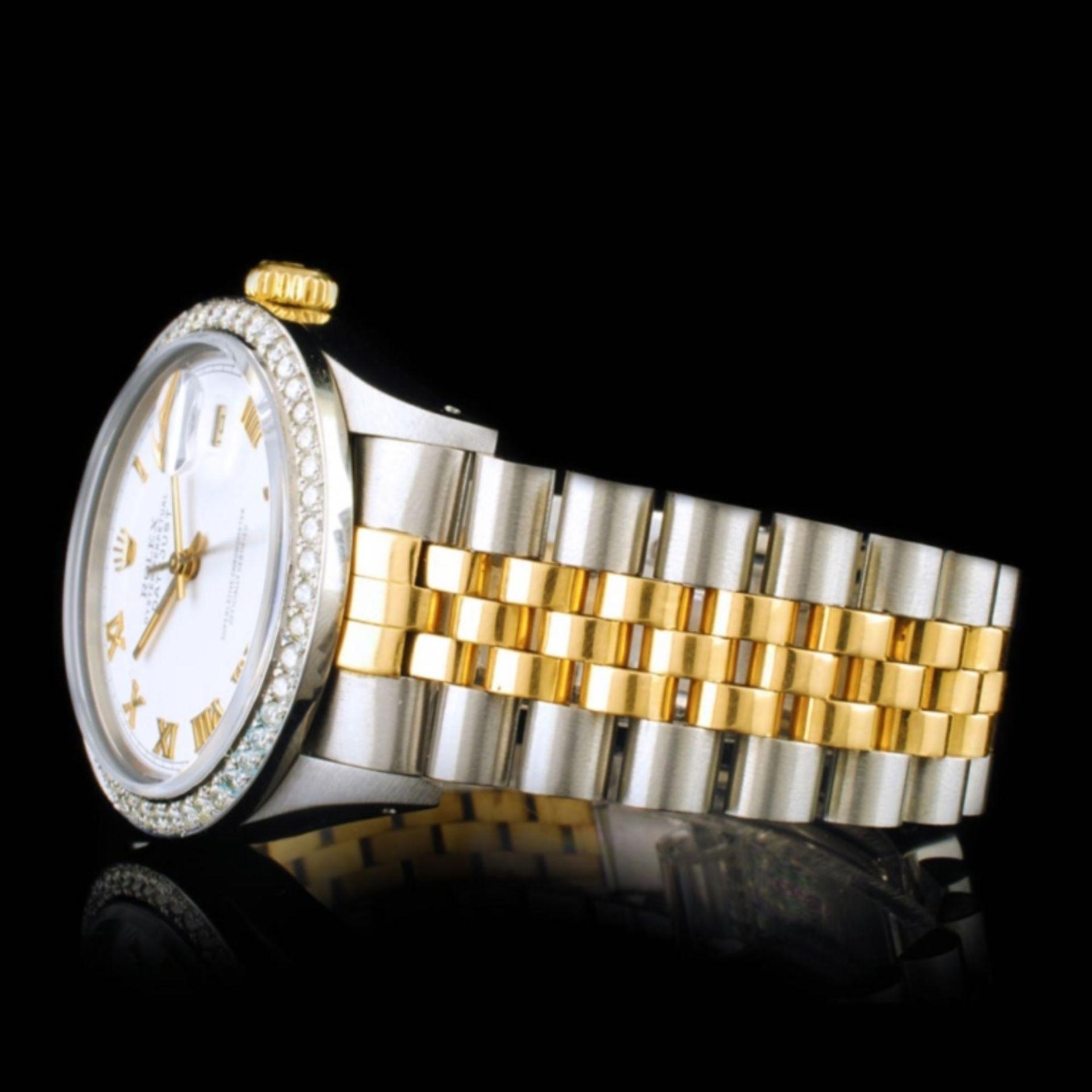 Rolex DateJust YG/SS Diamond 36mm Wristwatch - Image 4 of 6