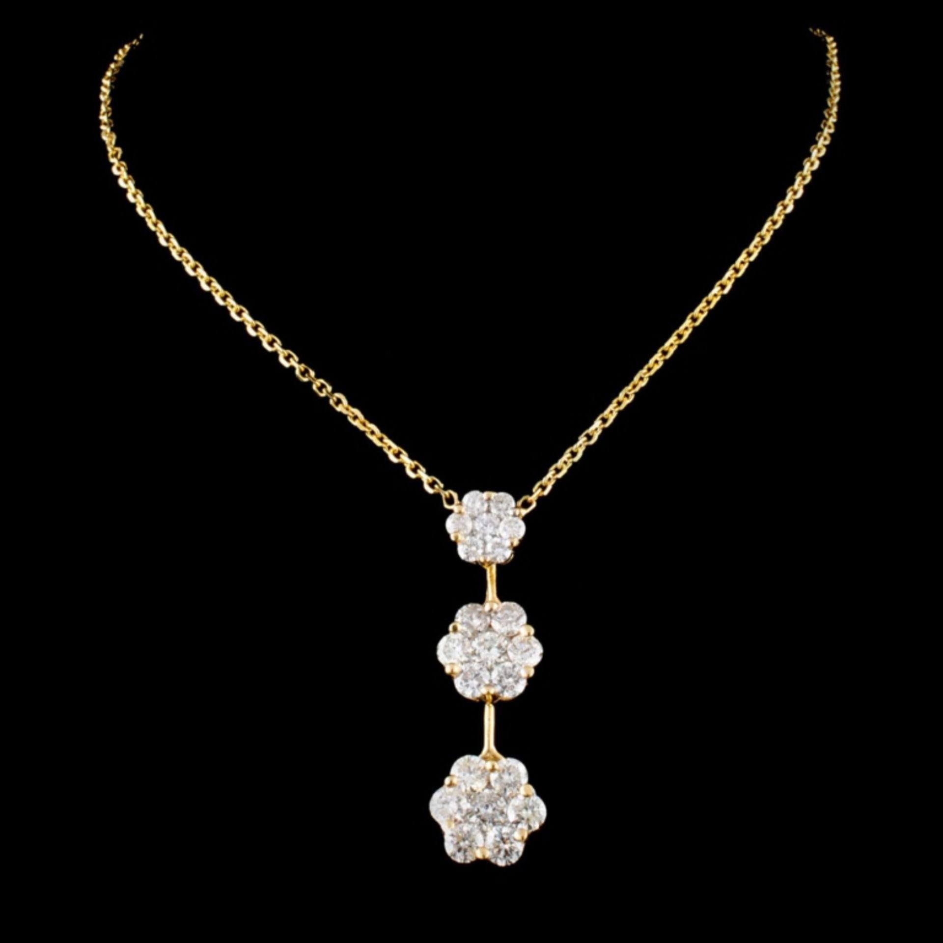 14K Gold 2.10ctw Diamond Necklace - Image 2 of 3