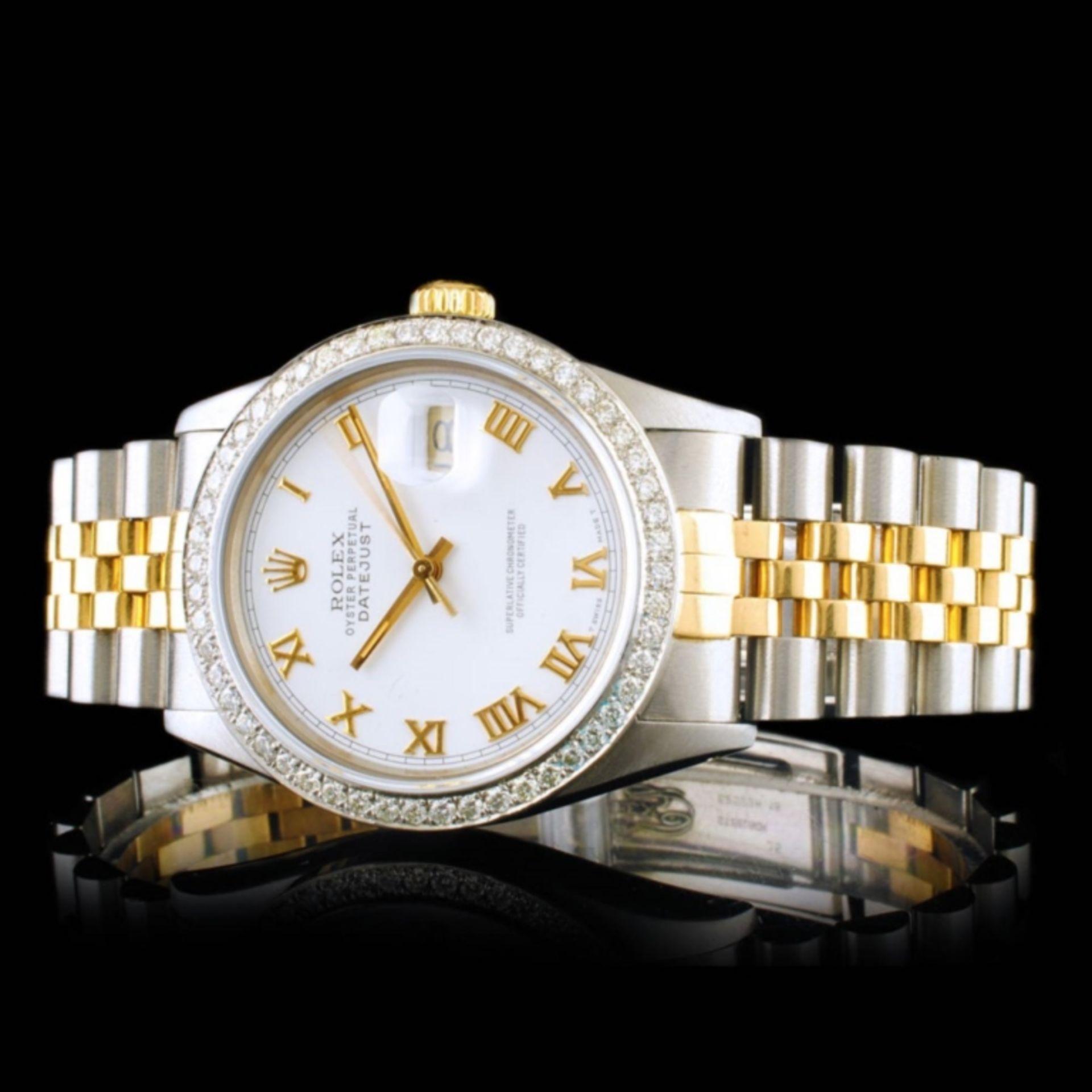 Rolex DateJust YG/SS Diamond 36mm Wristwatch - Image 3 of 6