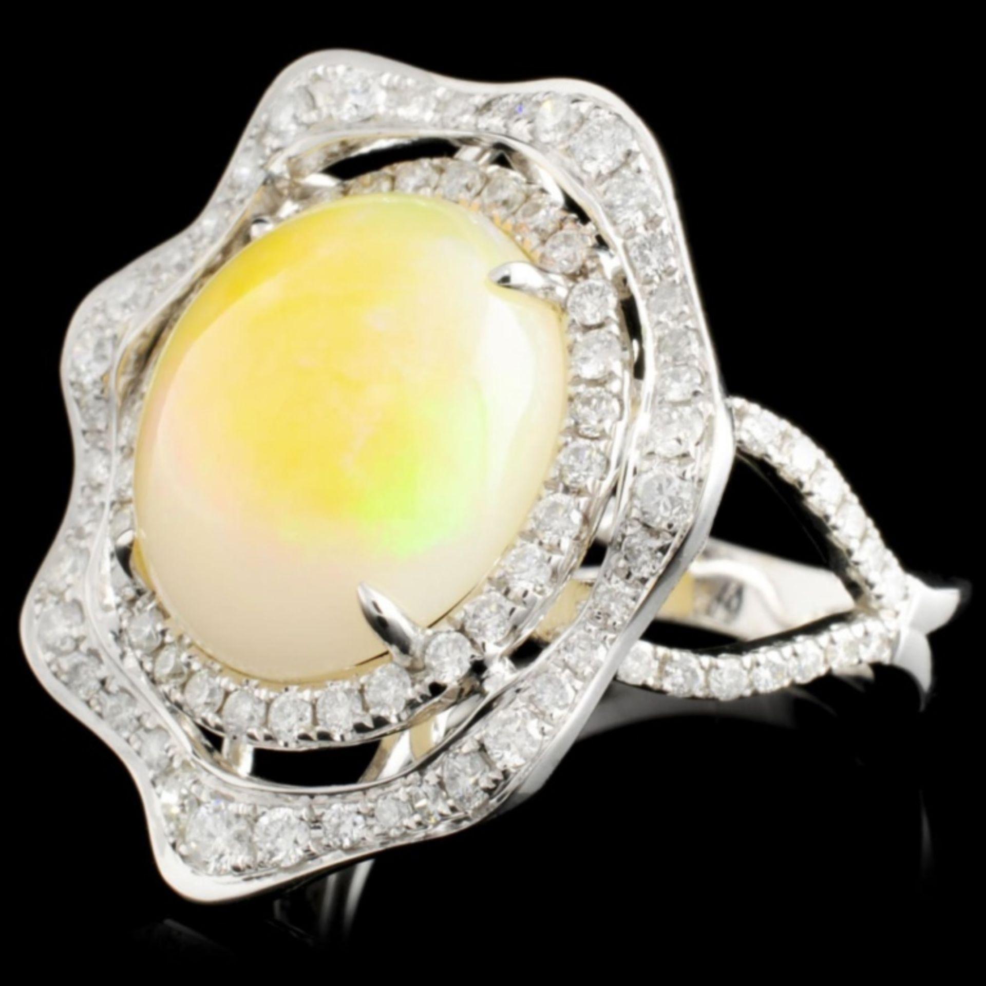 14K Gold 5.27ct Opal & 0.90ctw Diamond Ring - Image 2 of 4