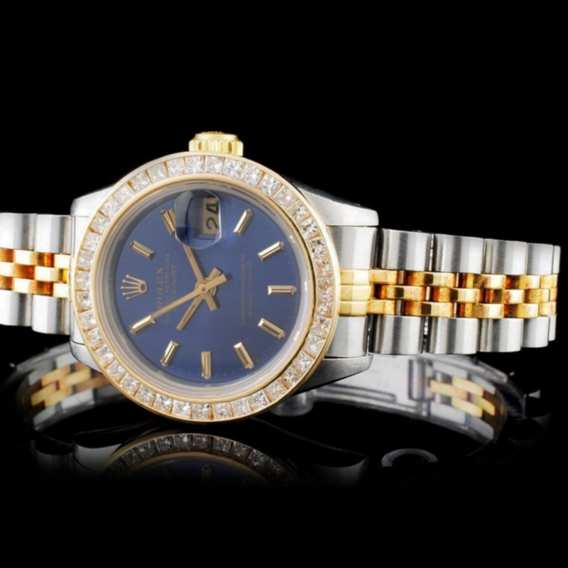 Rolex YG/SS DateJust 2.00ct Diamond Ladies Wristwa - Image 2 of 5