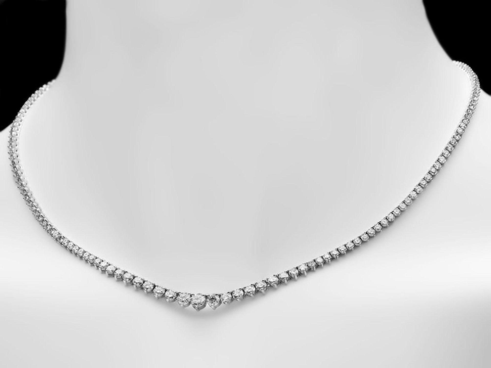^18k White Gold 10.00ct Diamond Necklace - Image 2 of 5