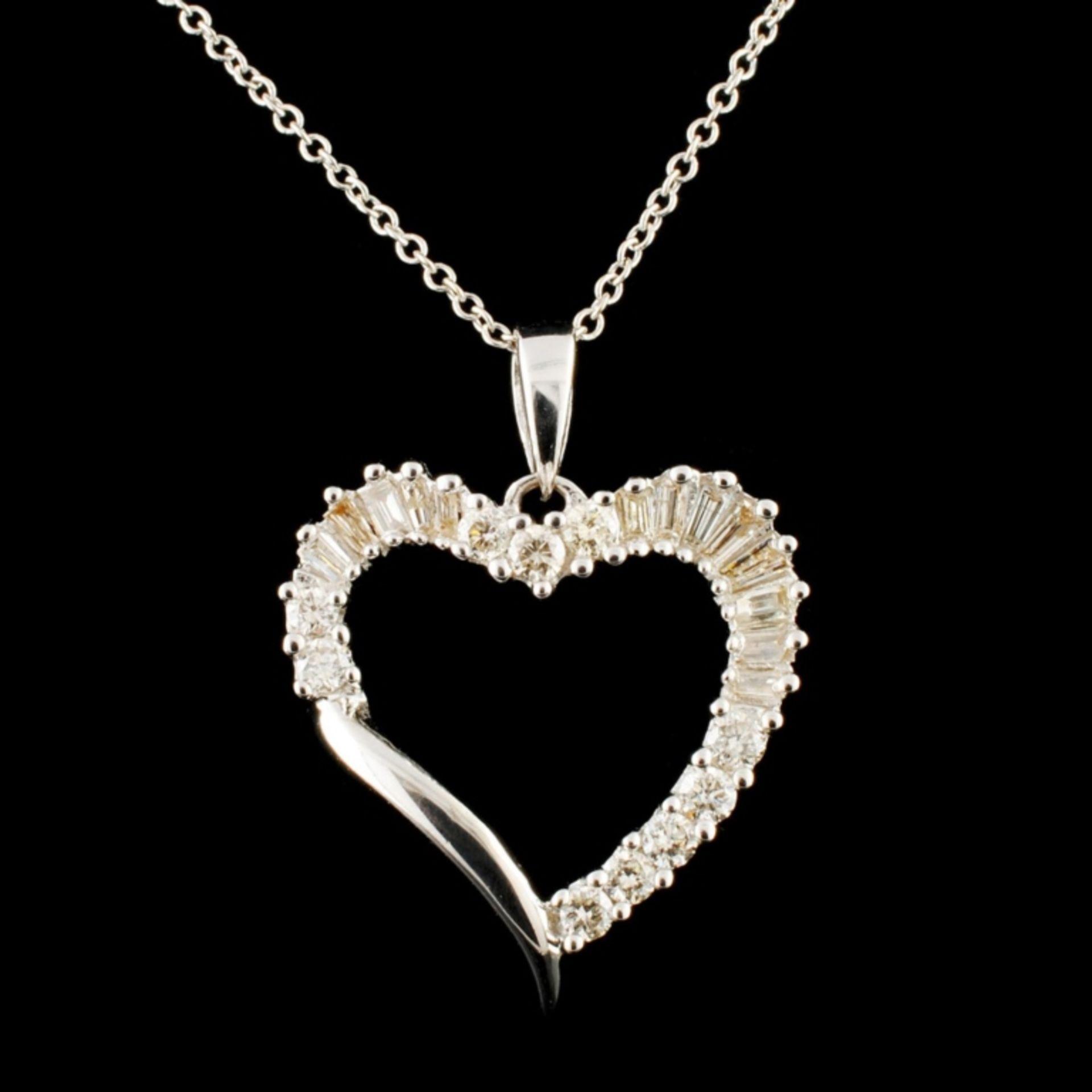 14K Gold 0.45ctw Diamond Pendant