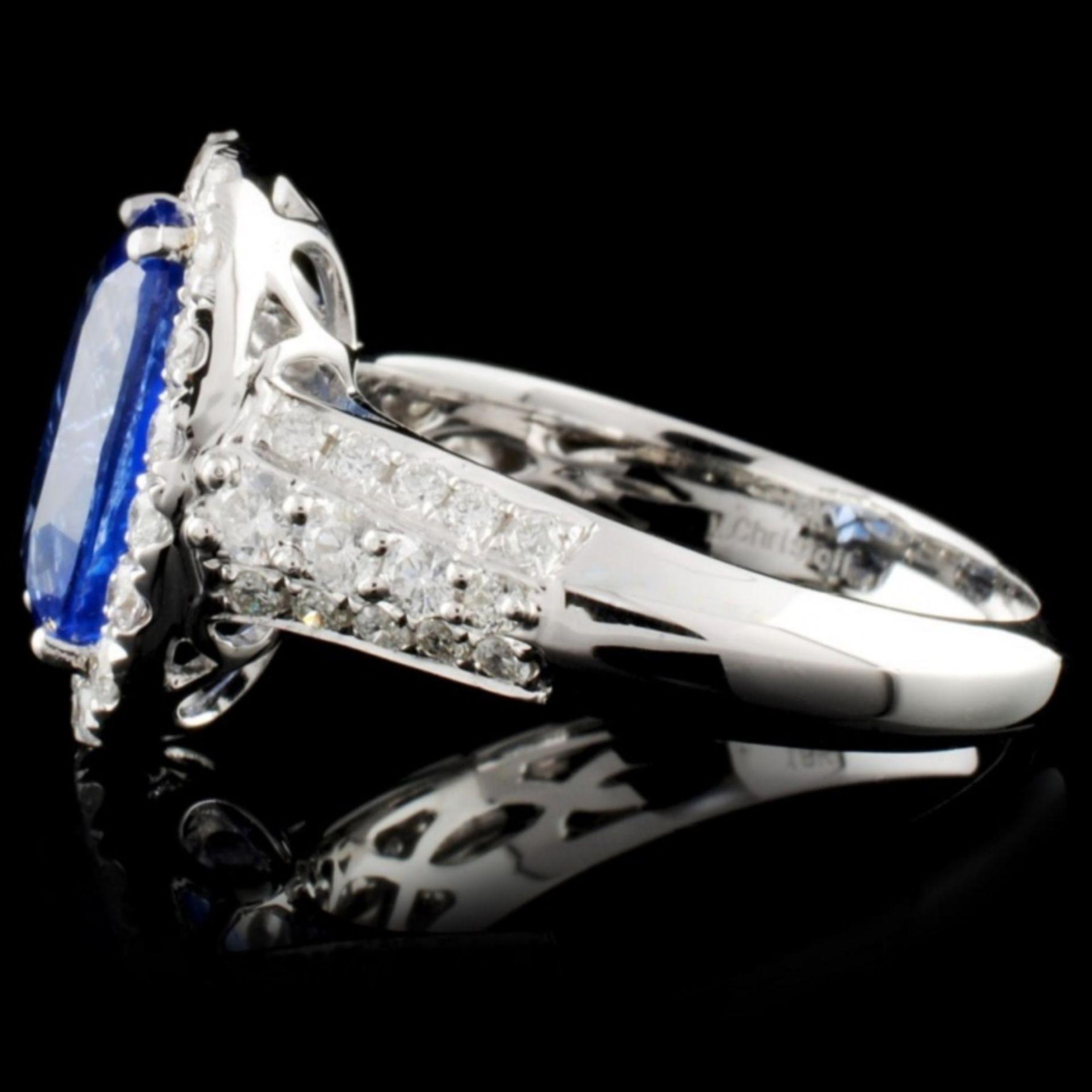 18K White Gold 3.19ct Sapphire & 0.73ct Diamond Ri - Image 3 of 4
