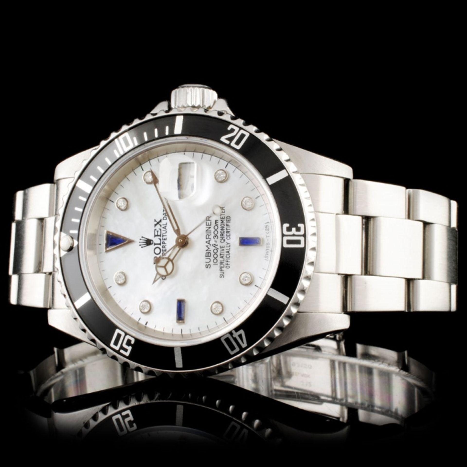 Rolex Submariner SS 40MM Diamond Wristwatch - Image 2 of 7