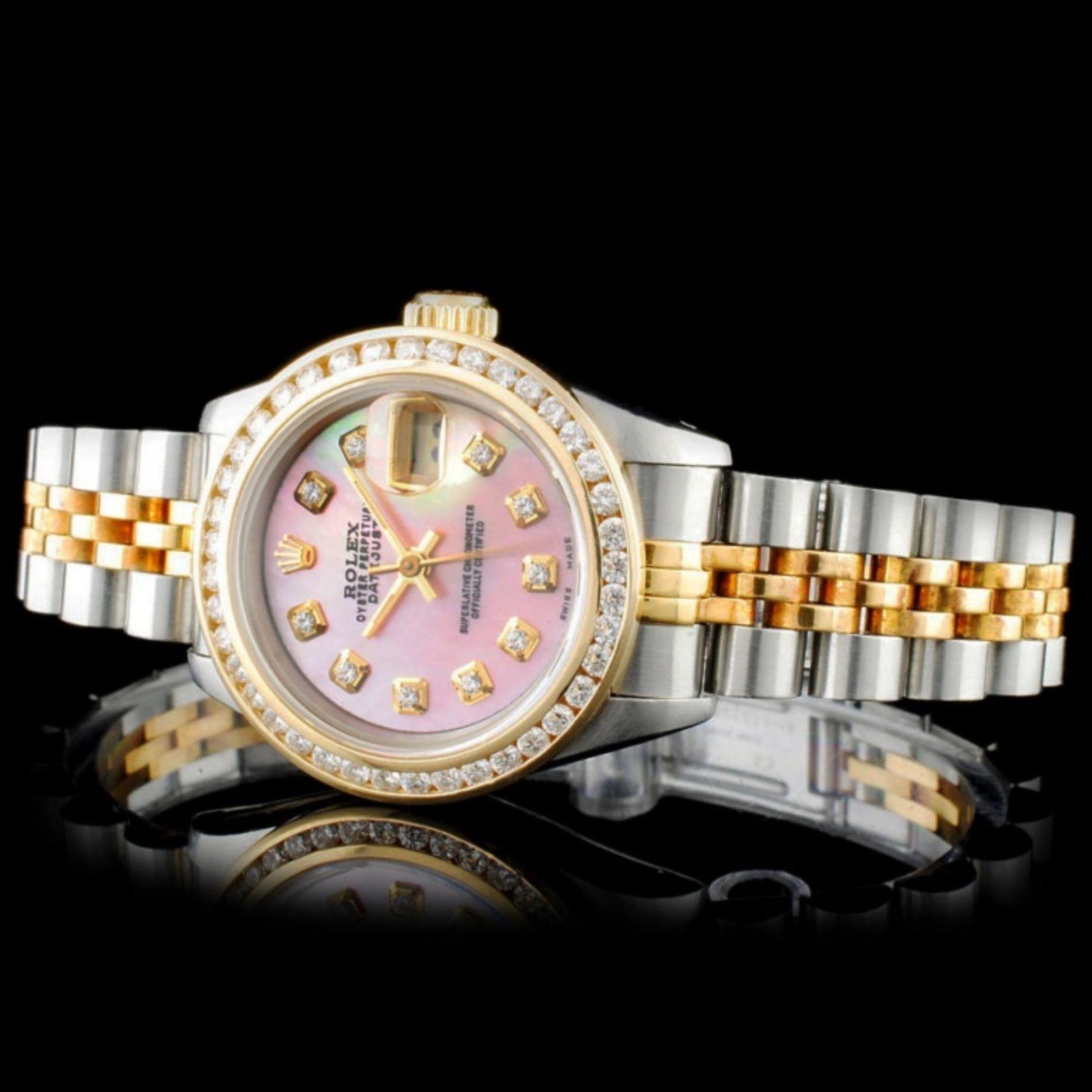 Rolex YG/SS DateJust Diamond Ladies Wristwa - Image 2 of 5