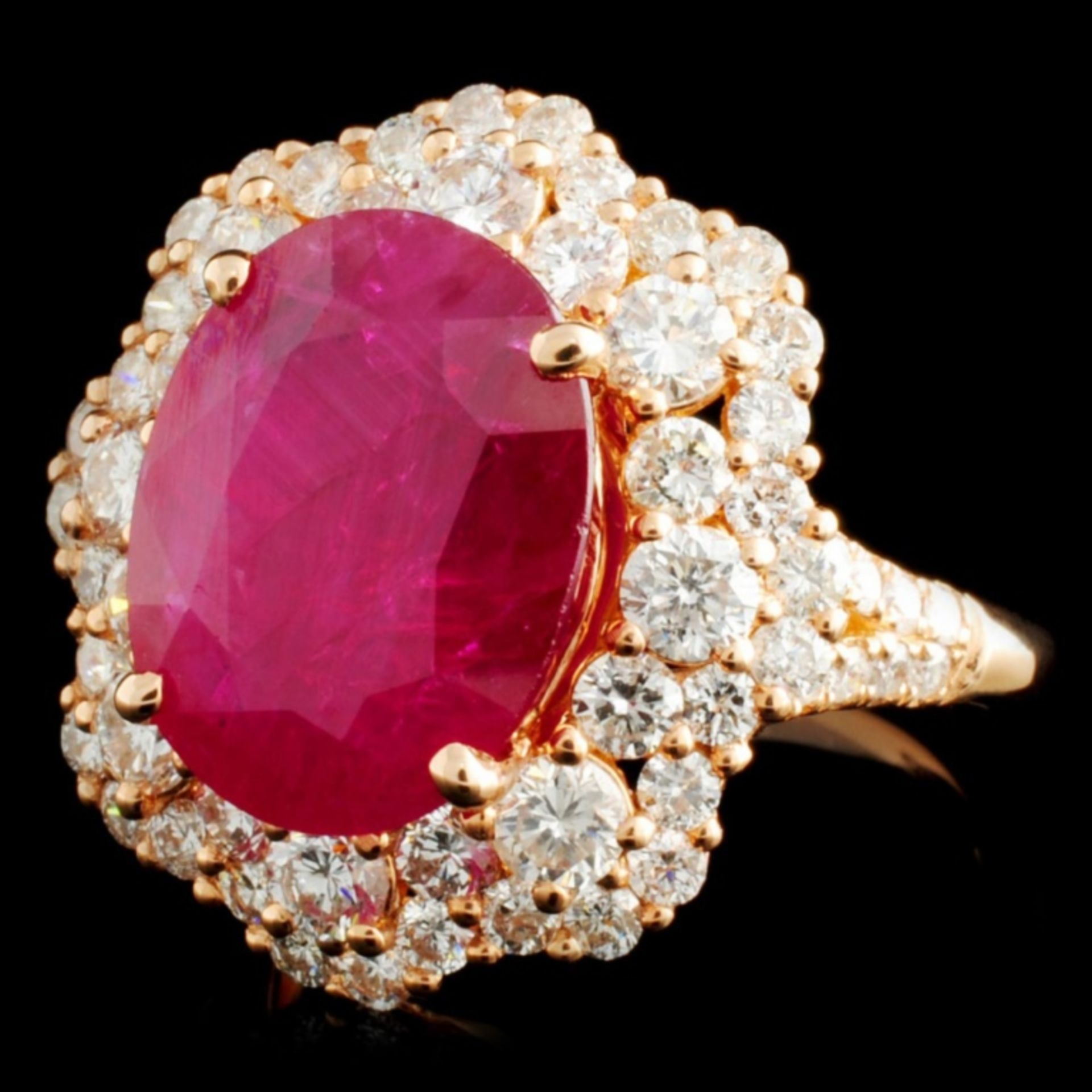 18K Gold 5.67ct Ruby & 2.08ctw Diamond Ring - Image 2 of 4