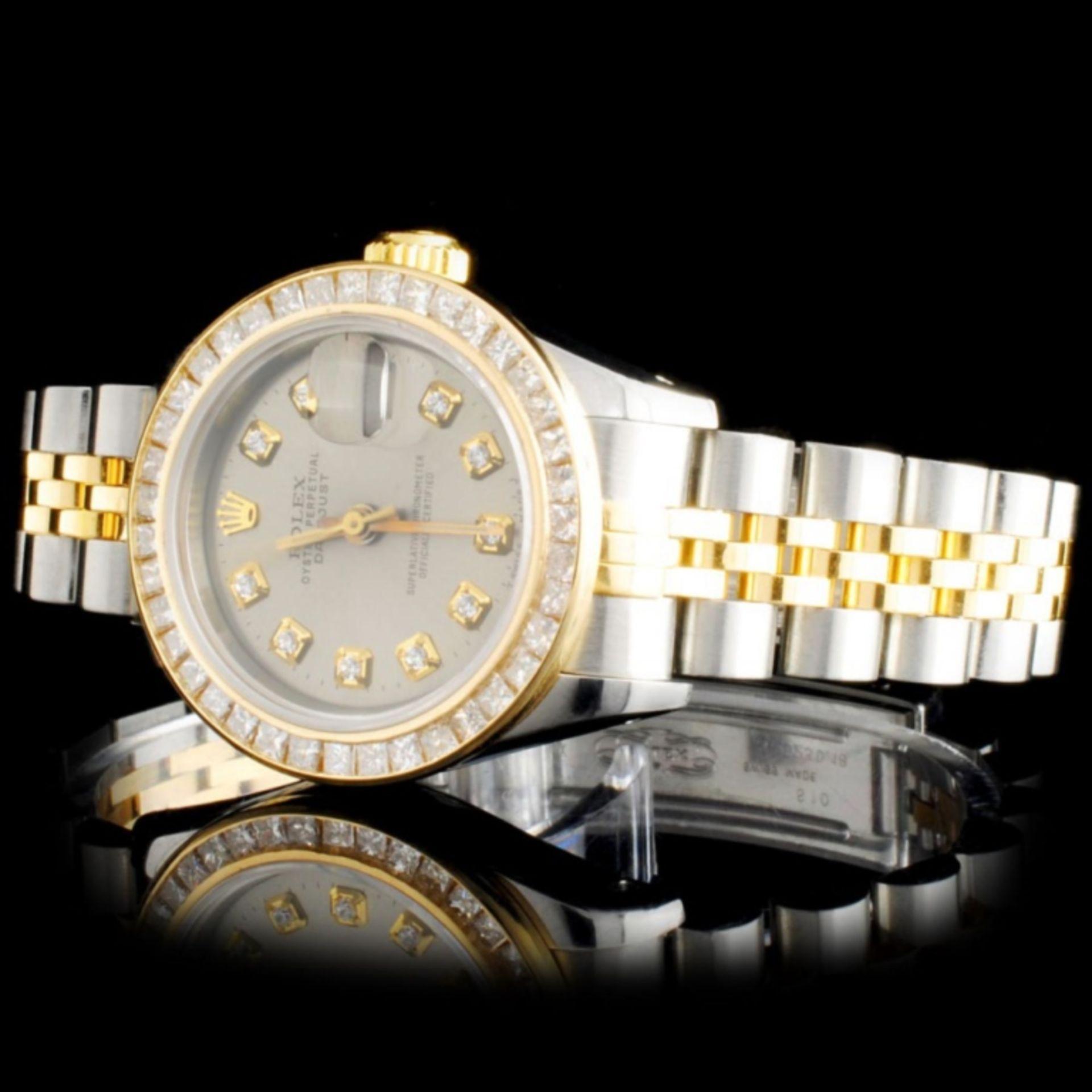 Rolex YG/SS DateJust Ladies Diamond Wristwatch - Image 2 of 5