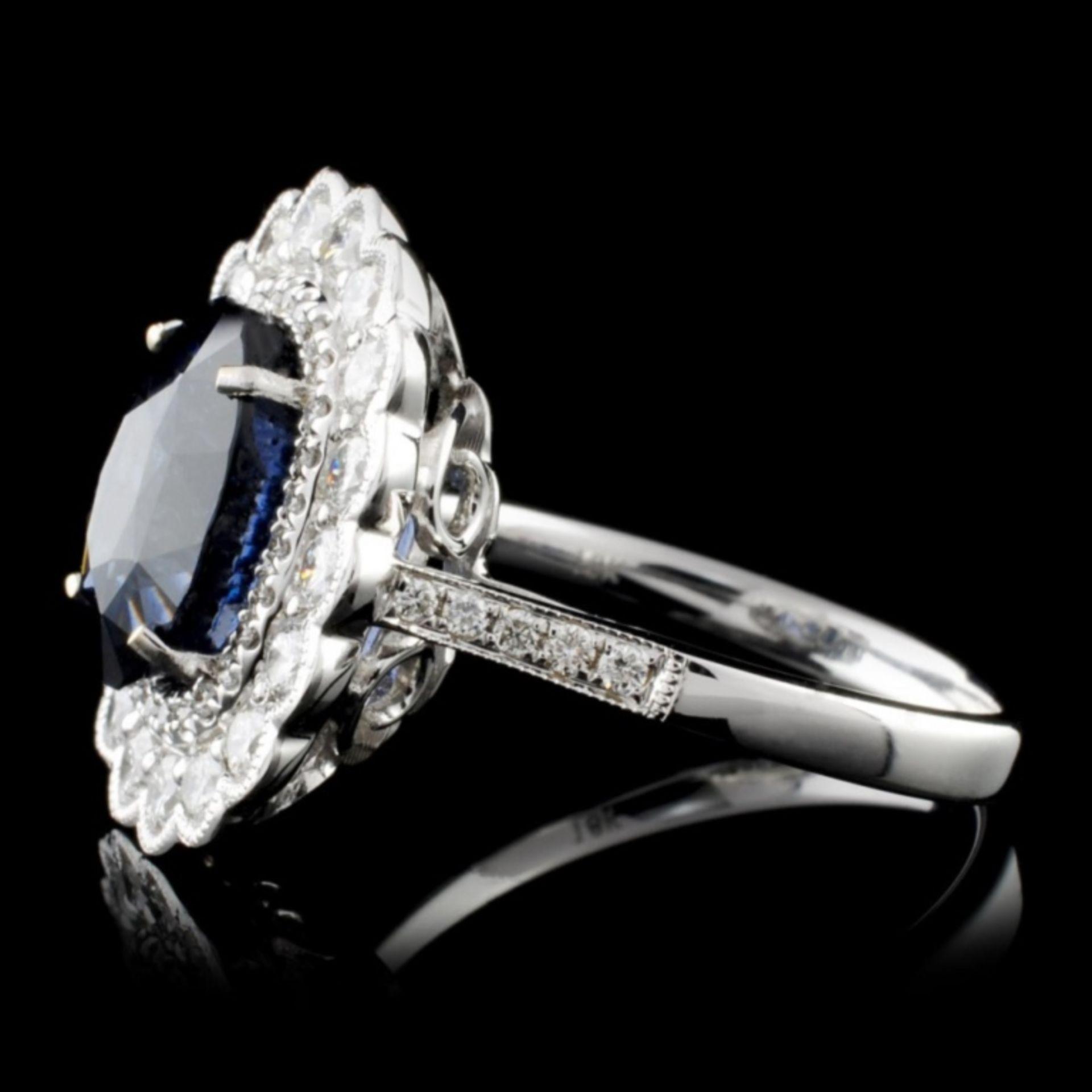 18K White Gold 3.52ct Spinel & 0.78ct Diamond Ring - Image 3 of 4