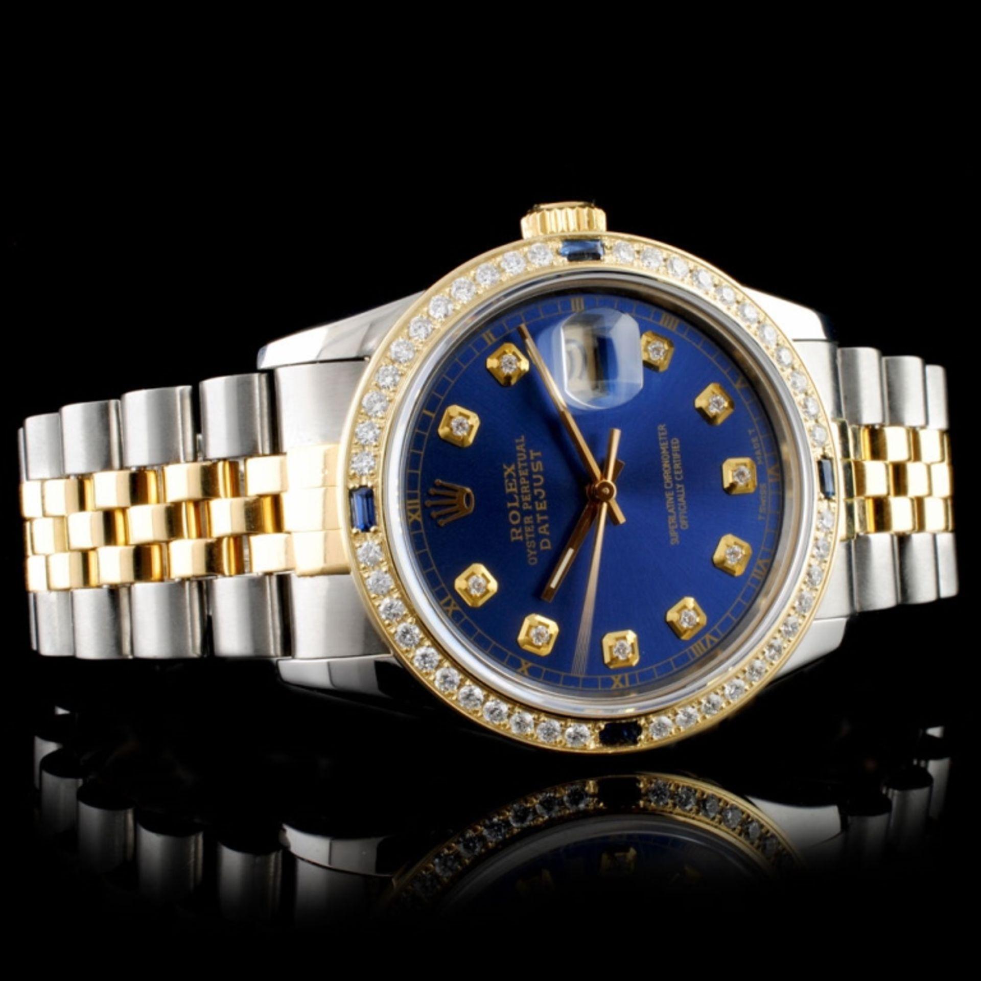 Rolex DateJust 36MM 1.50ct Diamond Wristwatch - Image 2 of 7