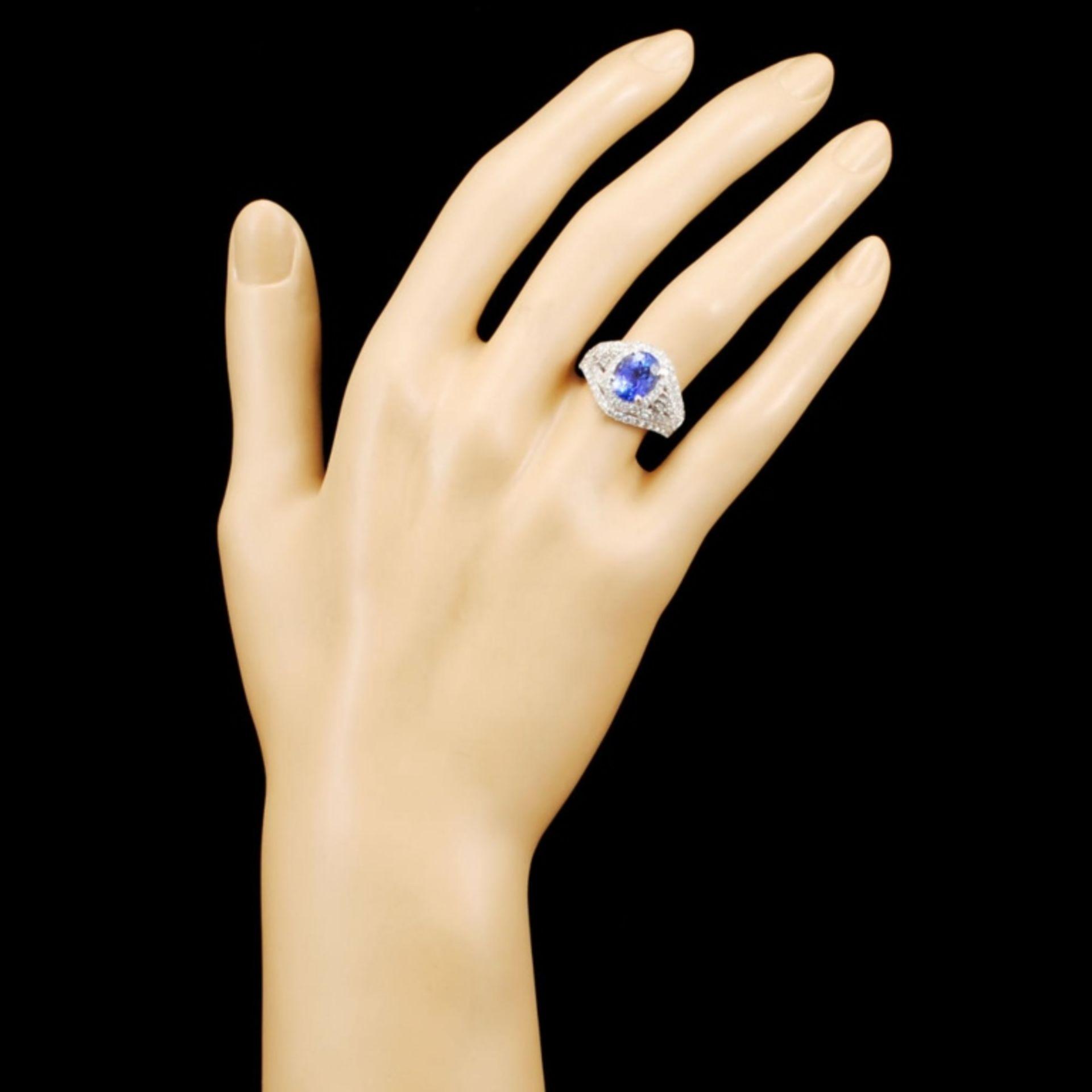 18K Gold 2.69ct Tanzanite & 1.65ctw Diamond Ring - Image 4 of 5