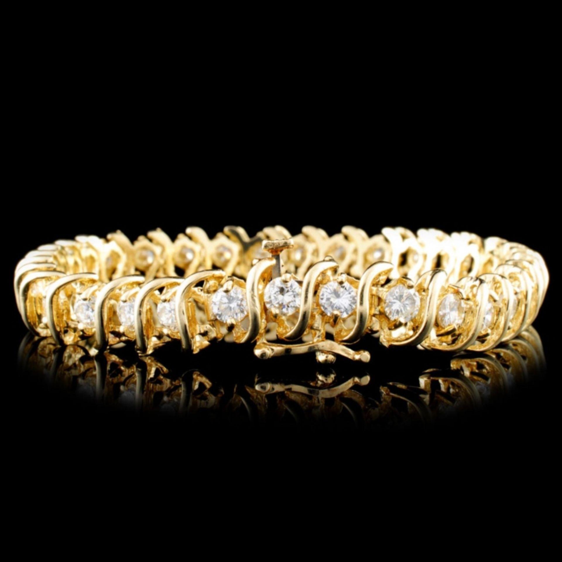 14K Gold 6.00ctw Diamond Bracelet - Image 2 of 4