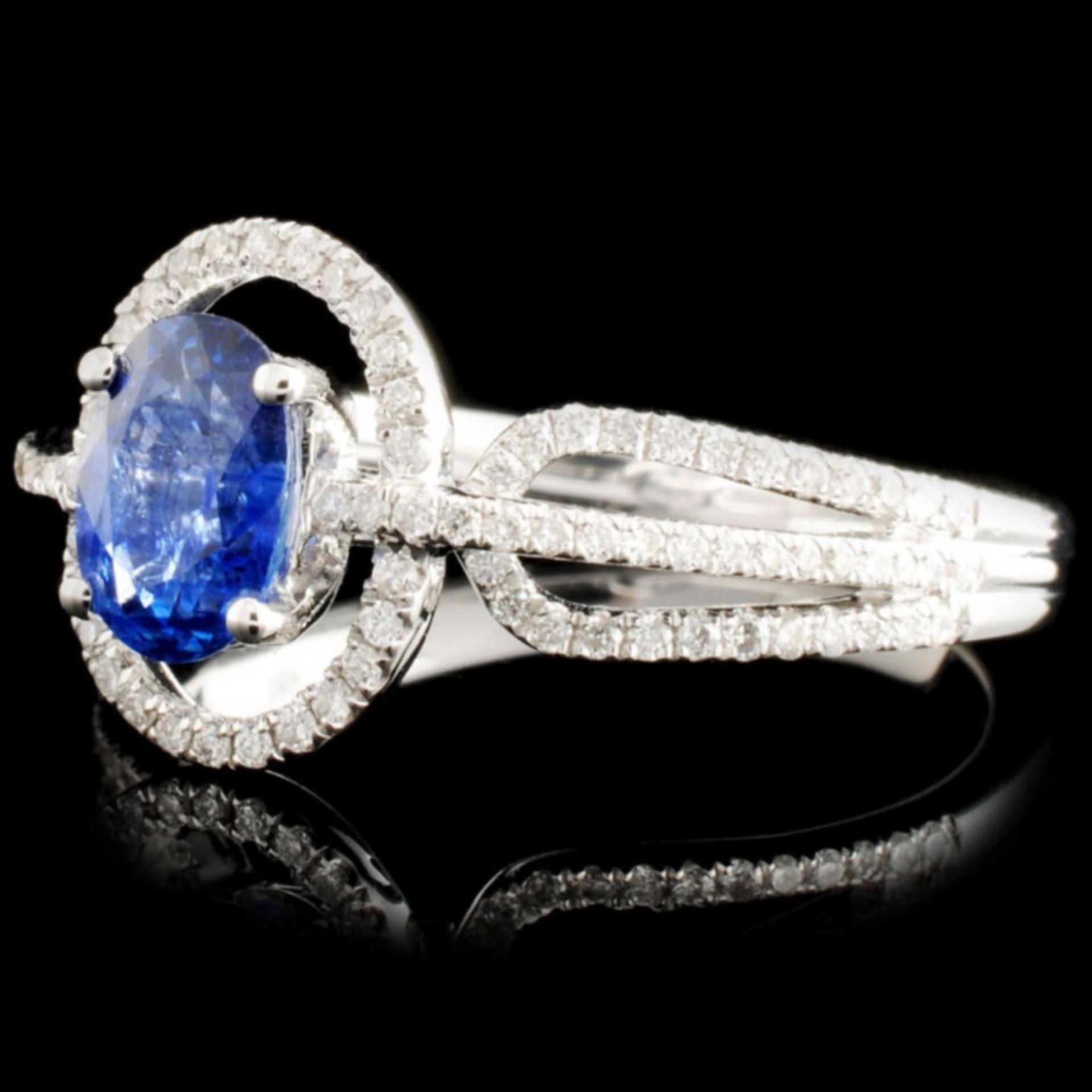 18K Gold 0.86ct Sapphire & 0.32ctw Diamond Ring - Image 2 of 5
