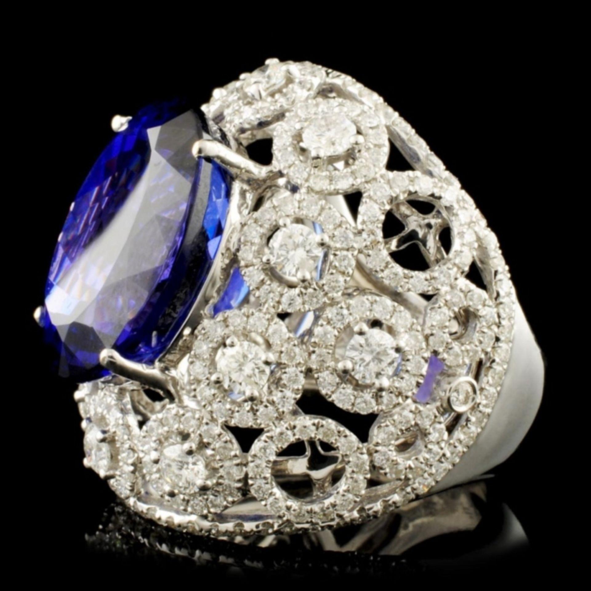 18K Gold 15.49ct Tanzanite & 2.68ctw Diamond Ring - Image 4 of 5