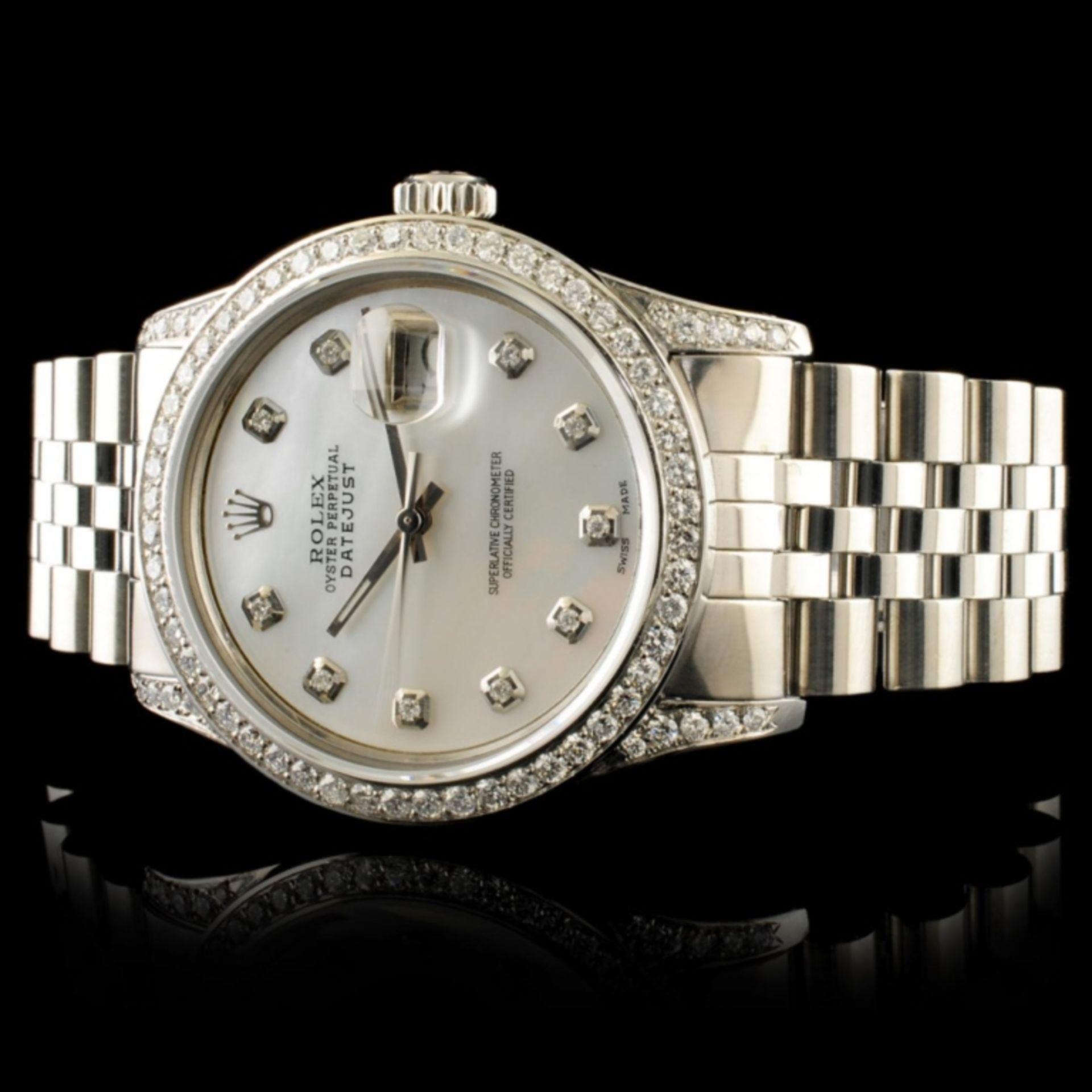 Rolex DateJust 1.50ctw Diamond 36MM Wristwatch - Image 4 of 6