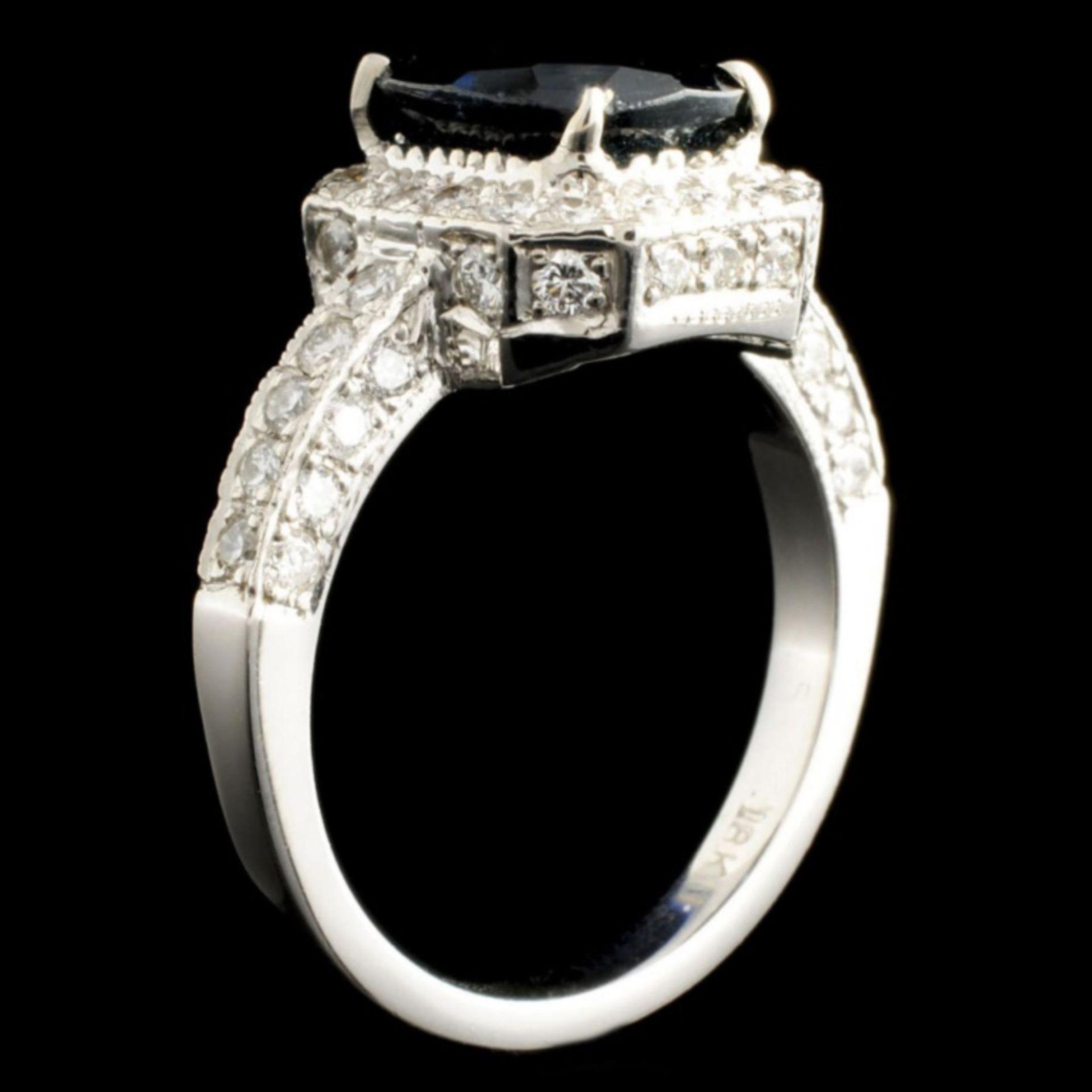 18K Gold 2.50ct Tourmaline & 0.80ctw Diamond Ring - Image 3 of 3