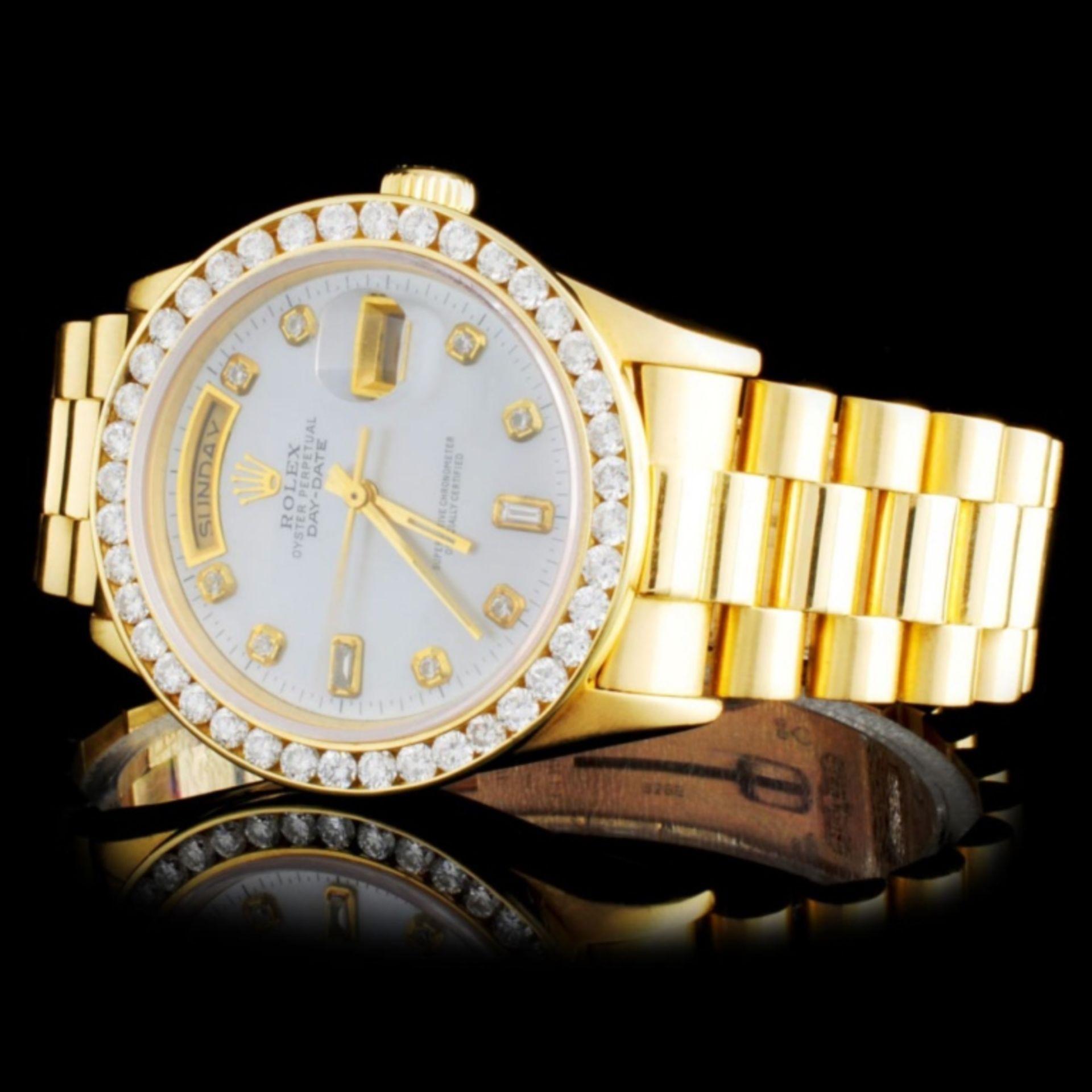 Rolex 18K YG Presidential Diamond Wristwatc - Image 2 of 4