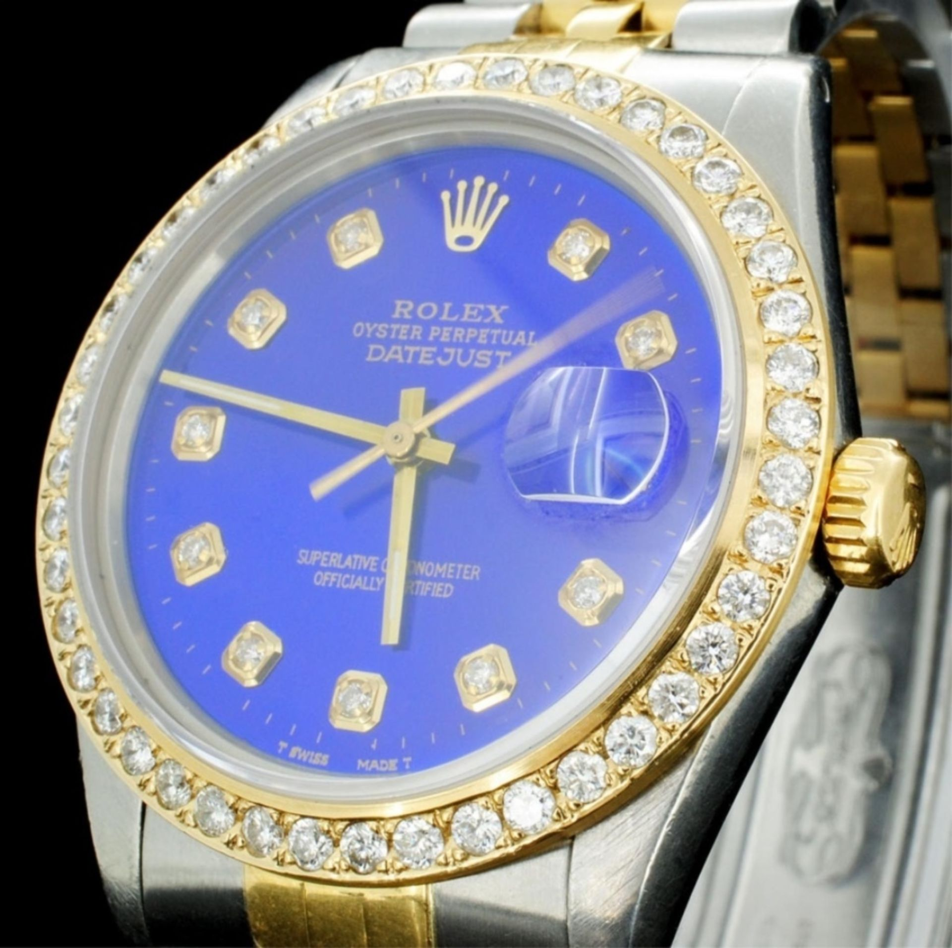 Rolex YG/SS DateJust Diamond 36MM Watch - Image 2 of 6