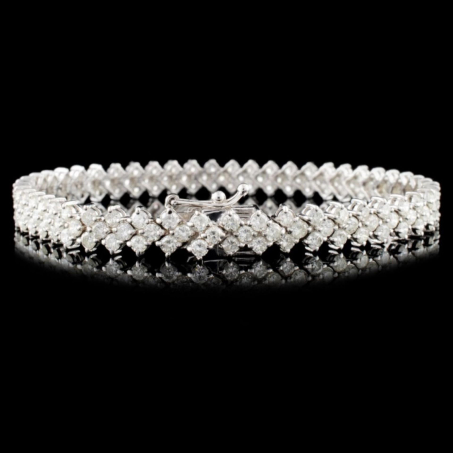 18K Gold 6.00ctw Diamond Bracelet - Image 2 of 3