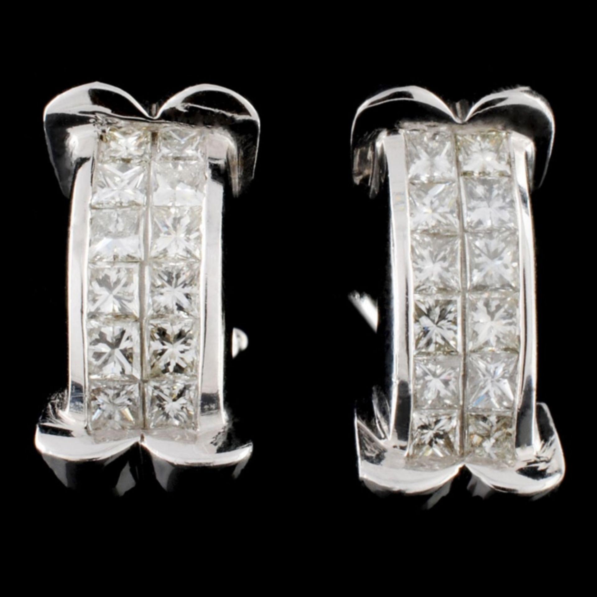 18K Gold 1.92ctw Diamond Earrings