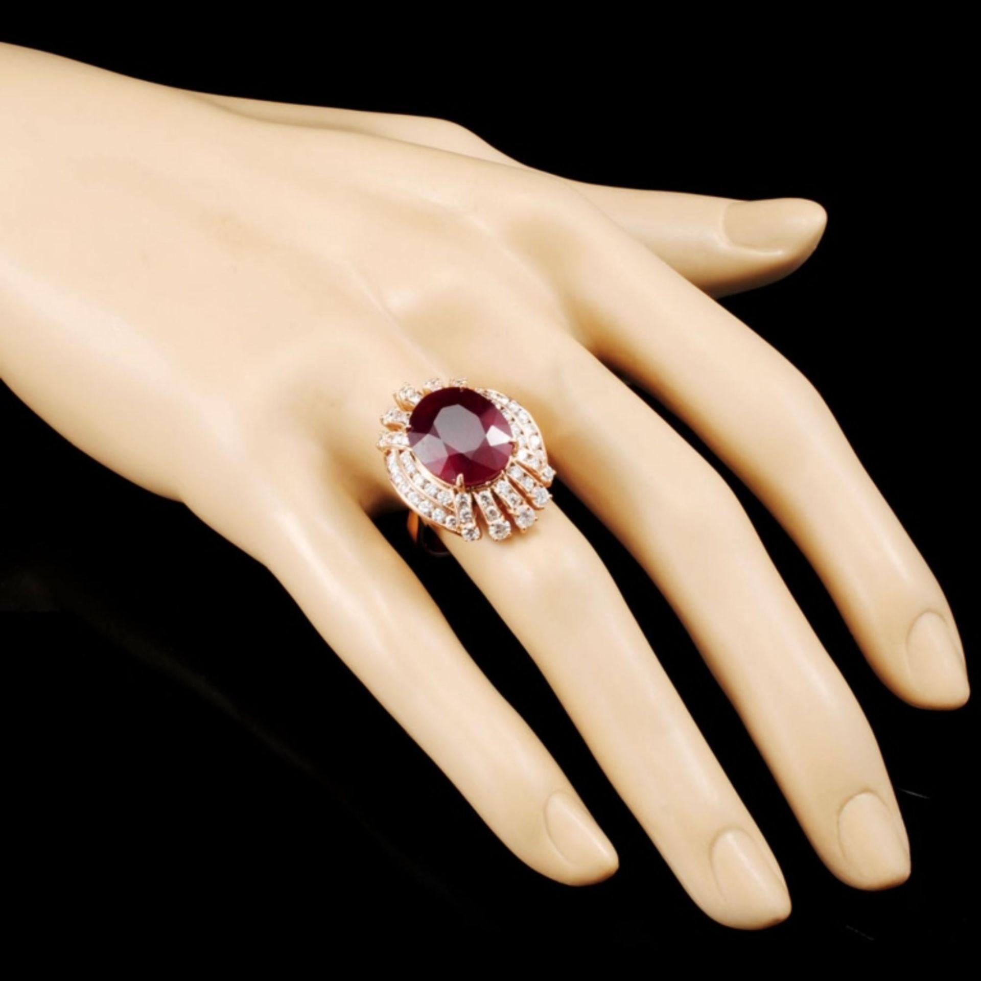 14K Gold 12.24ct Ruby & 2.02ctw Diamond Ring - Image 3 of 5