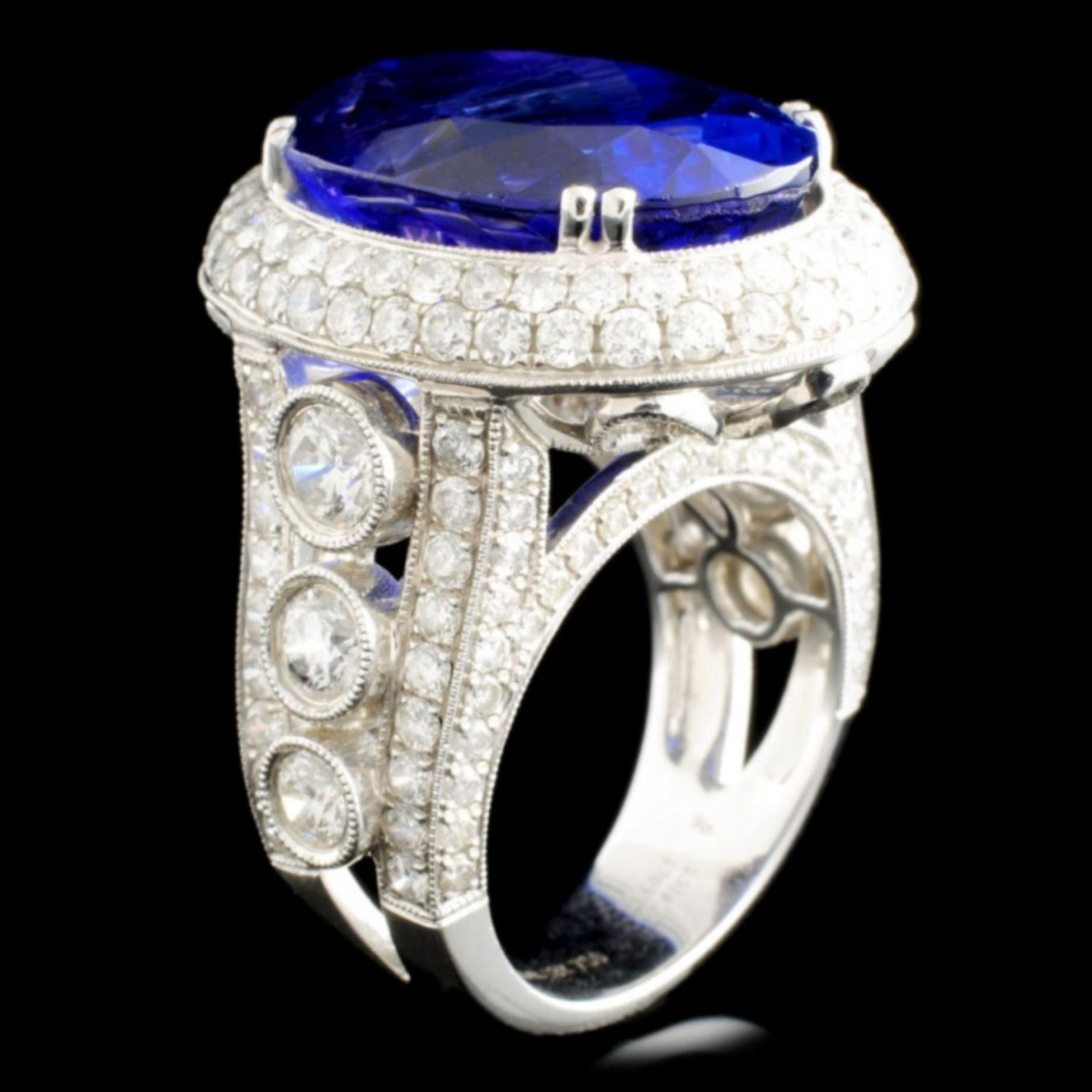 18K Gold 17.41ct Tanzanite & 3.68ctw Diamond Ring - Image 2 of 5